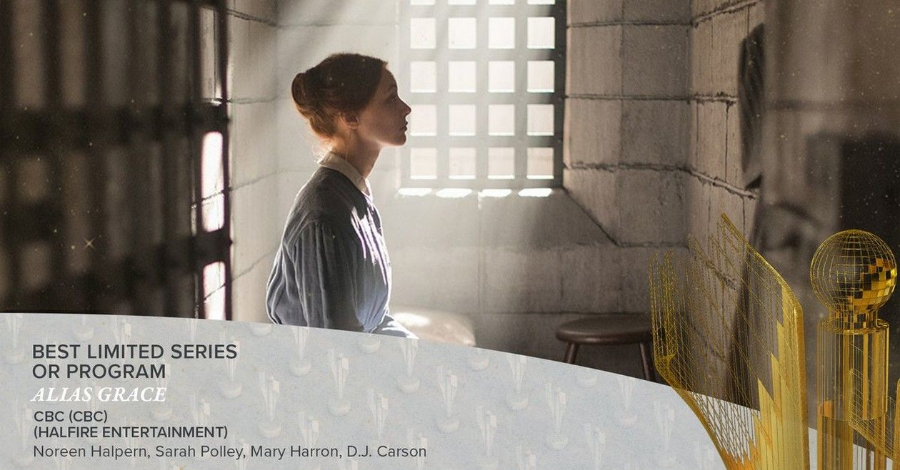 Sarah Gadon Best Lead Actress / Alias Grace Best Limited Series | Canadian Screen Awards 2018