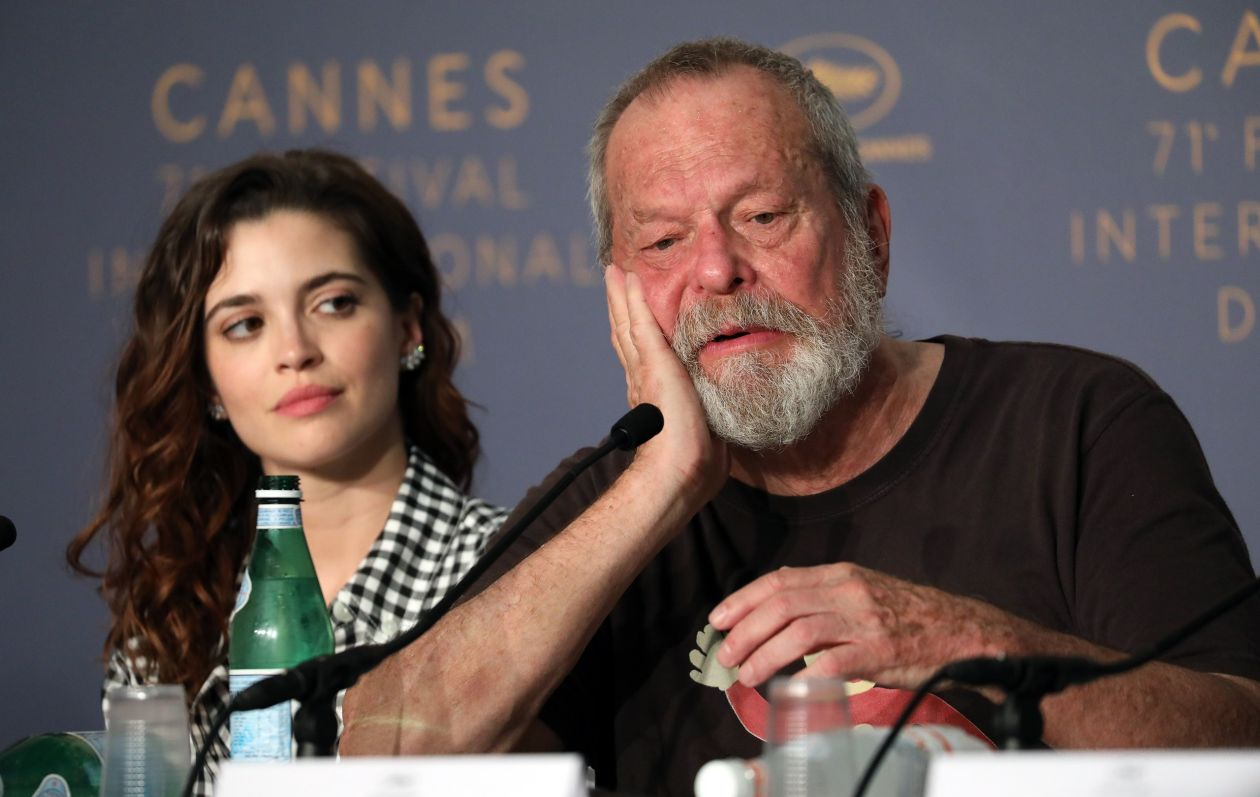 Joana Ribeiro actress, Terry Gilliam director - The Man Who Killed Don Quixote (L'Homme qui tua Don Quichotte) © Mathilde Petit / Festival de Cannes 2018 Conférence de Presse