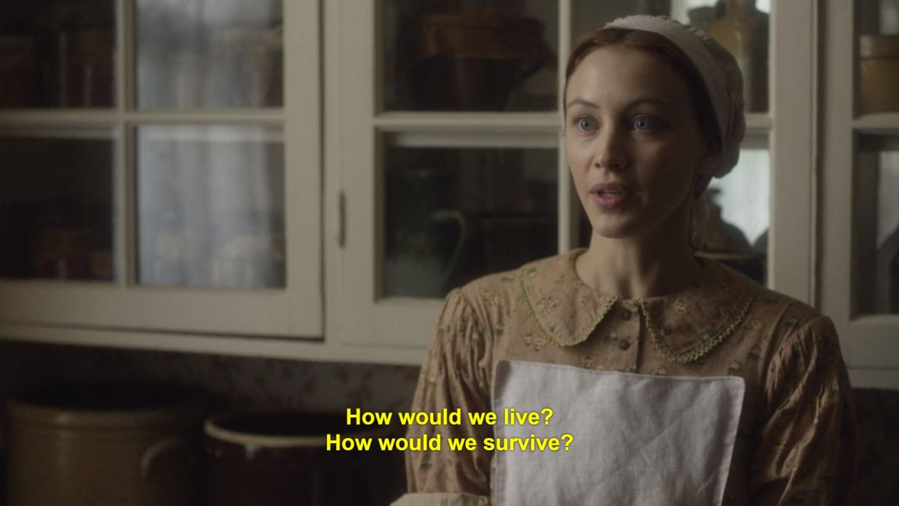 Sarah Gadon | Alias Grace / Netflix 2017 | How would we live? How would we survive?