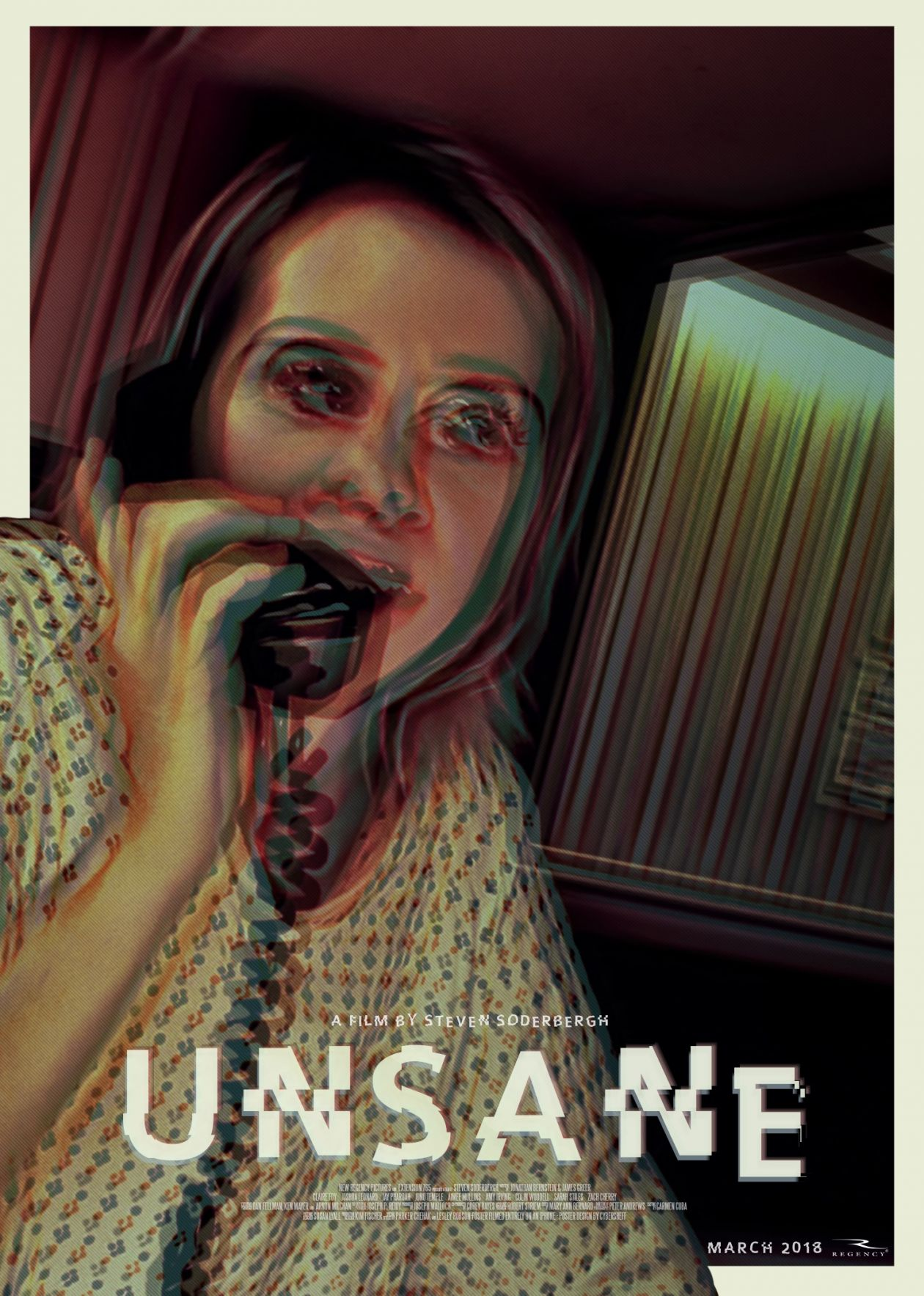 Claire Foy / Sawyer Valentini | Unsane / Paranoïa | Steven Soderbergh Film Poster