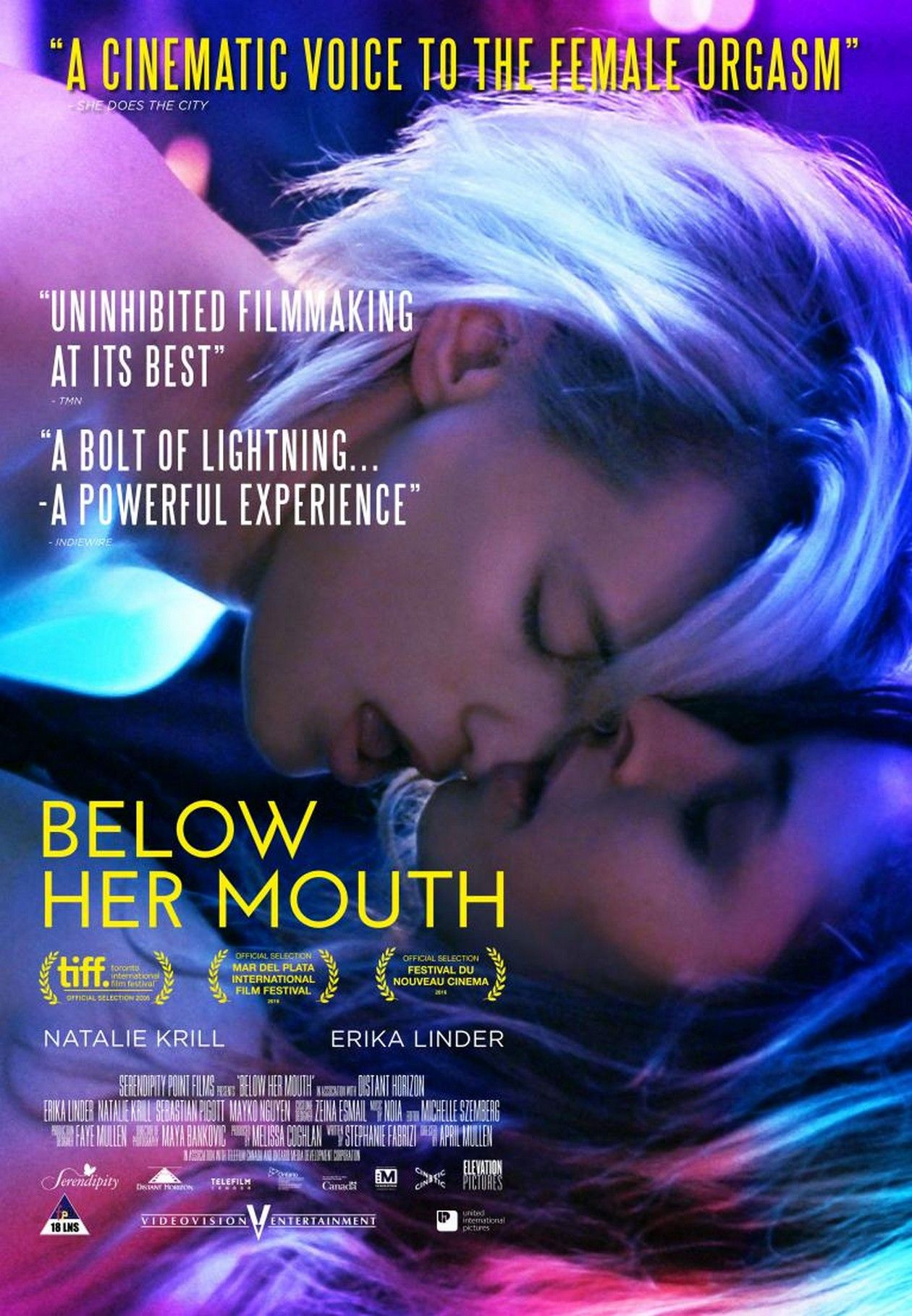 Erika Linder / Natalie Krill actresses | Below her mouth : Dallas / Jasmine | April Mullen 2016 / MOVIE POSTER / AFFICHE FILM
