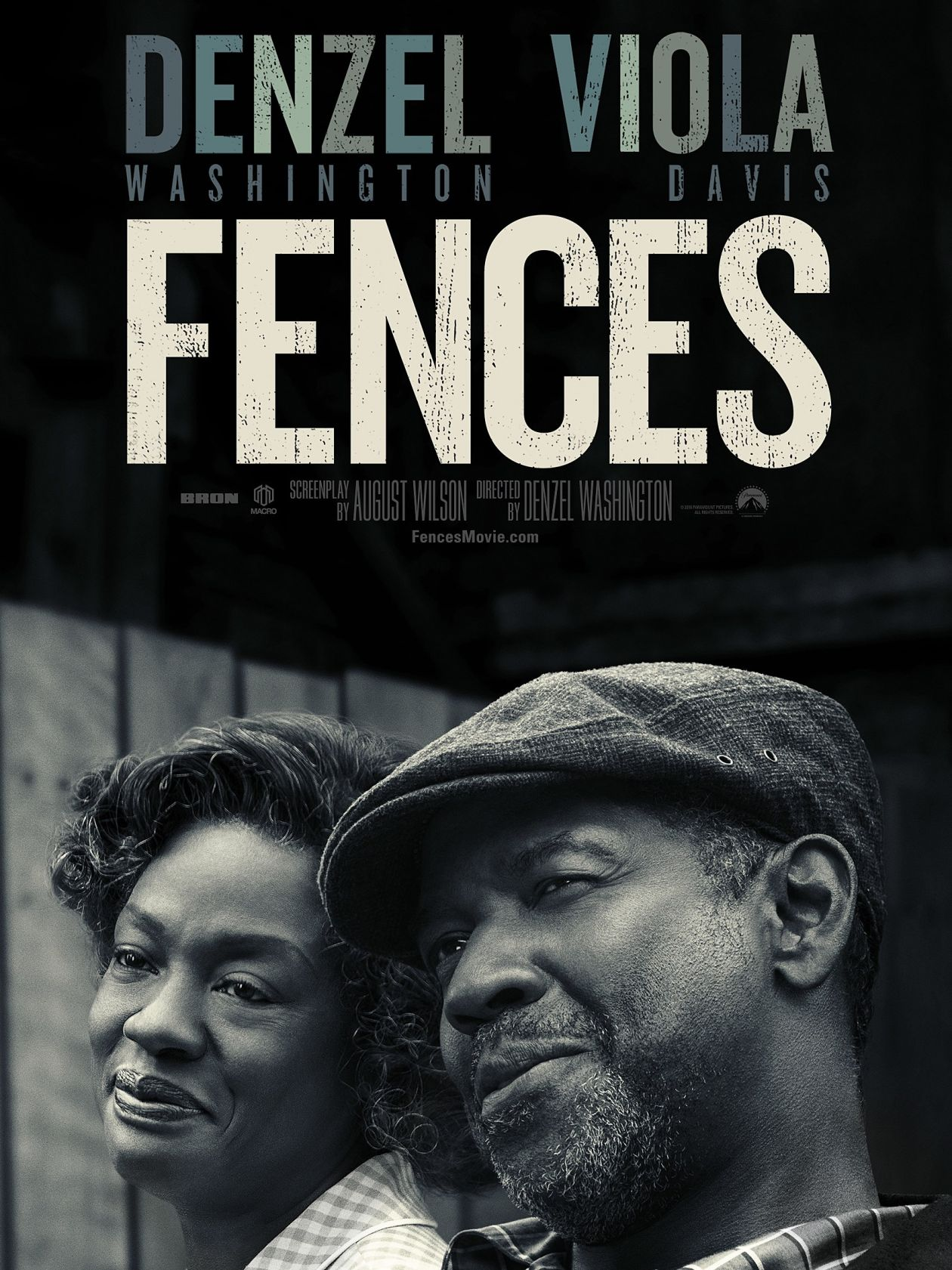 Academy Award / Oscar 2017 / Best Supporting Actress: Viola Davis - Fences / Denzel Washington