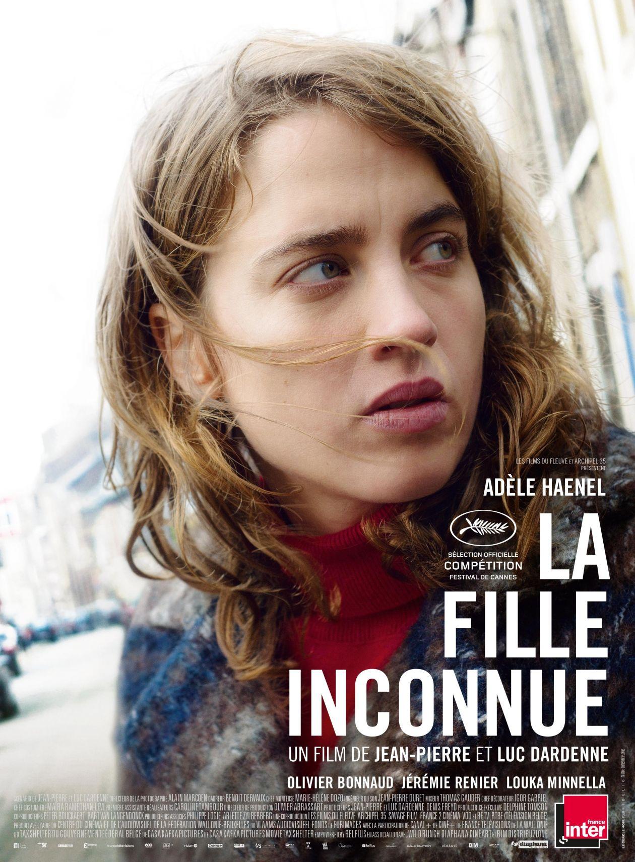 Adèle Haenel actress actrice comédienne | La fille inconnue / Jean-Pierre Dardenne Luc Dardenne 2016 Movie Poster Affiche film