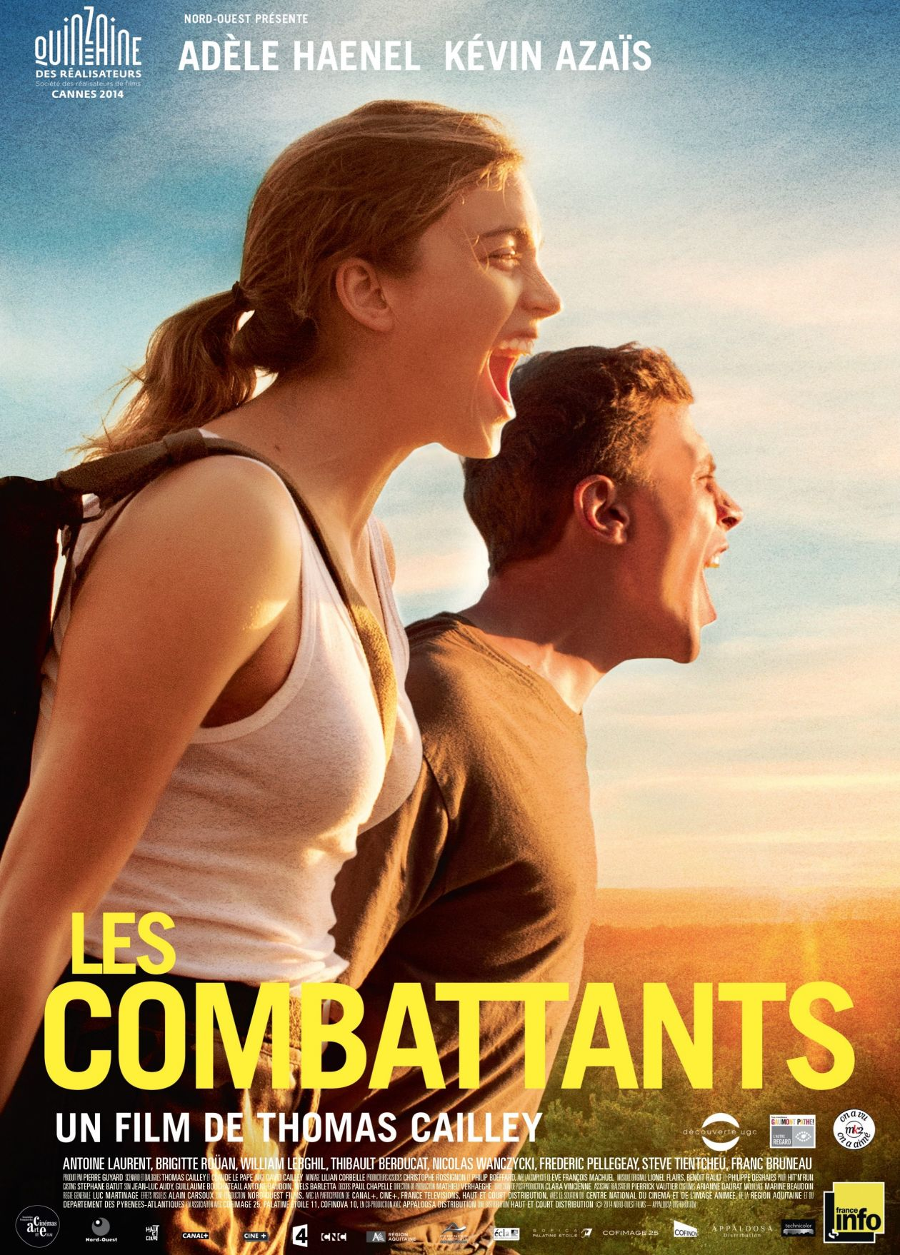 Adèle Haenel : Les Combattants - Thomas Cailley 2014 Movie Poster / Affiche film