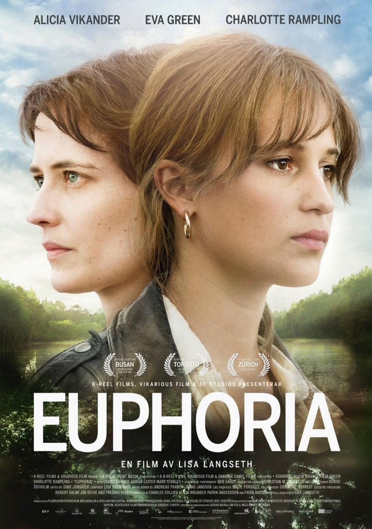 Alicia Vikander / Eva Green actresses | Euphoria / Lisa Langseth 2017 Movie Poster Affiche fil8