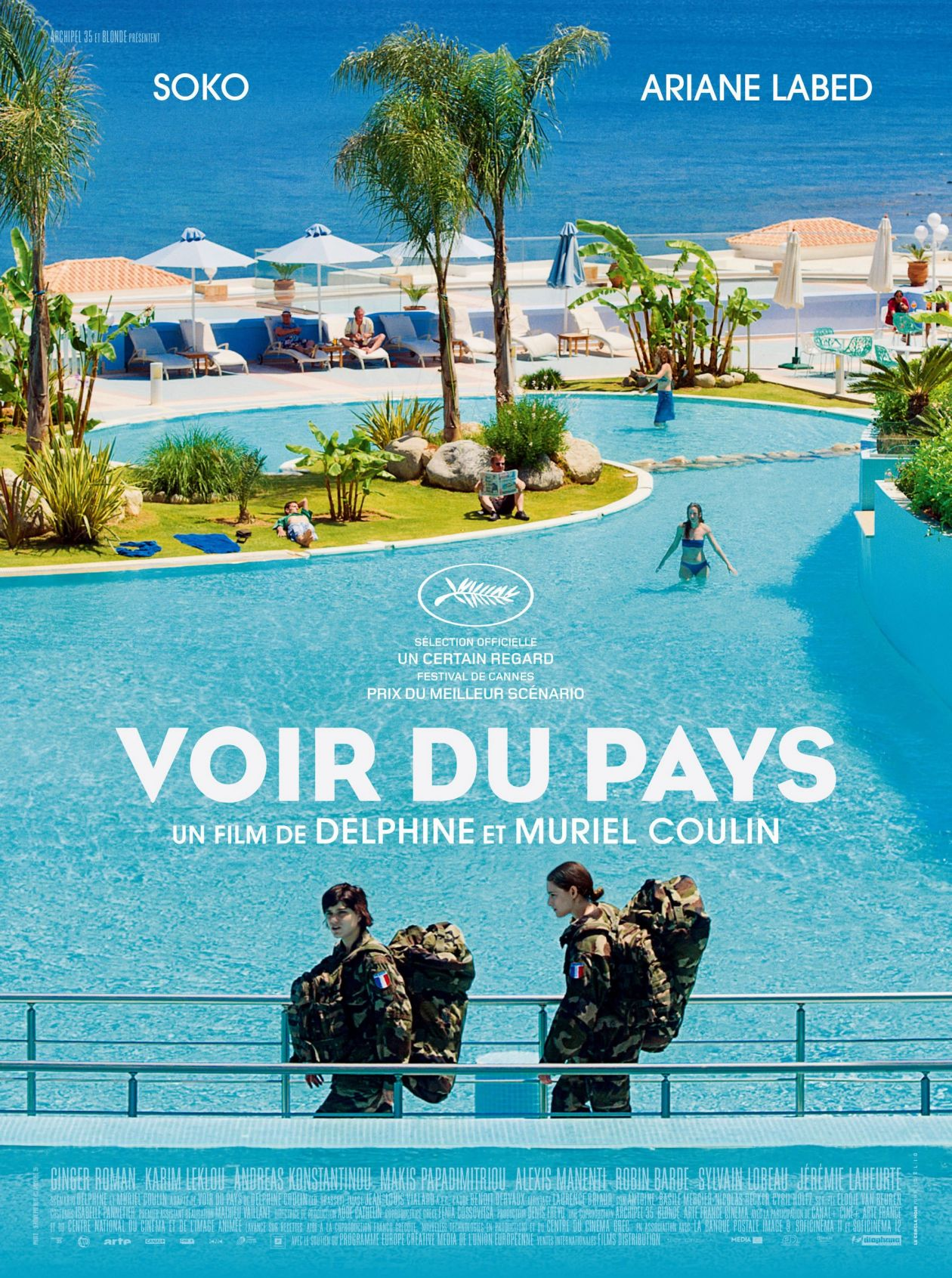 Ariane Labed / Soko actresses actrices comédiennes | Voir du pays / Delphine Coulin, Muriel Coulin 2016 Movie Poster Affiche film