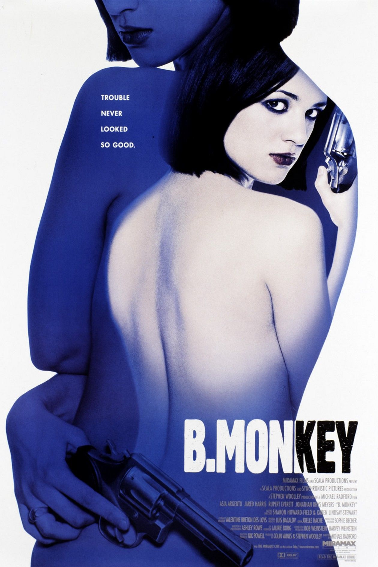 Asia Argento actress / B. Monkey / Michael Radford 1998 Movie Poster Affiche film