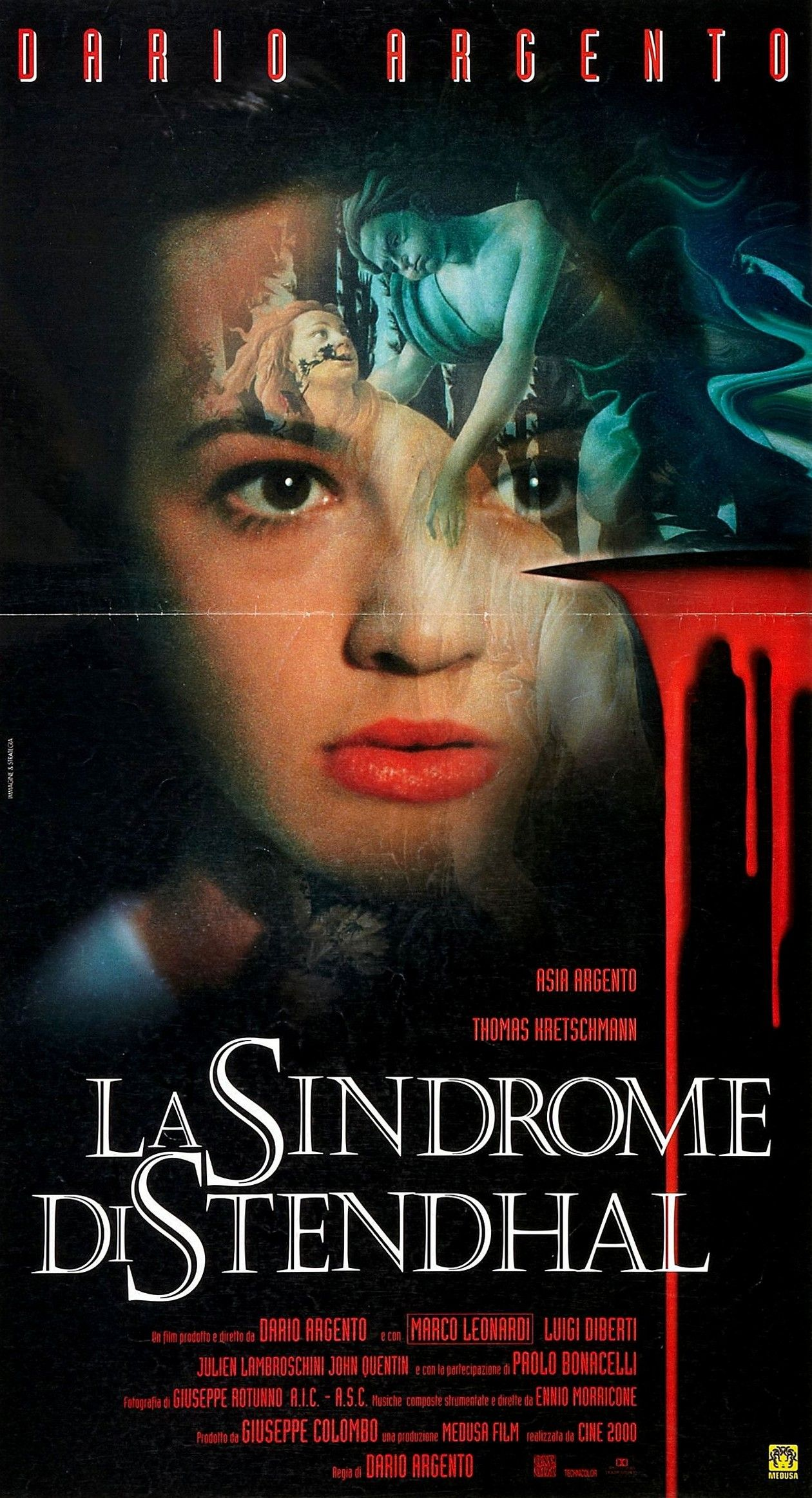 Asia Argento actress | La sindrome di Stendhal / Le syndrome de Stendhal / DARIO ARGENTO 1996 Movie Poster Affiche film