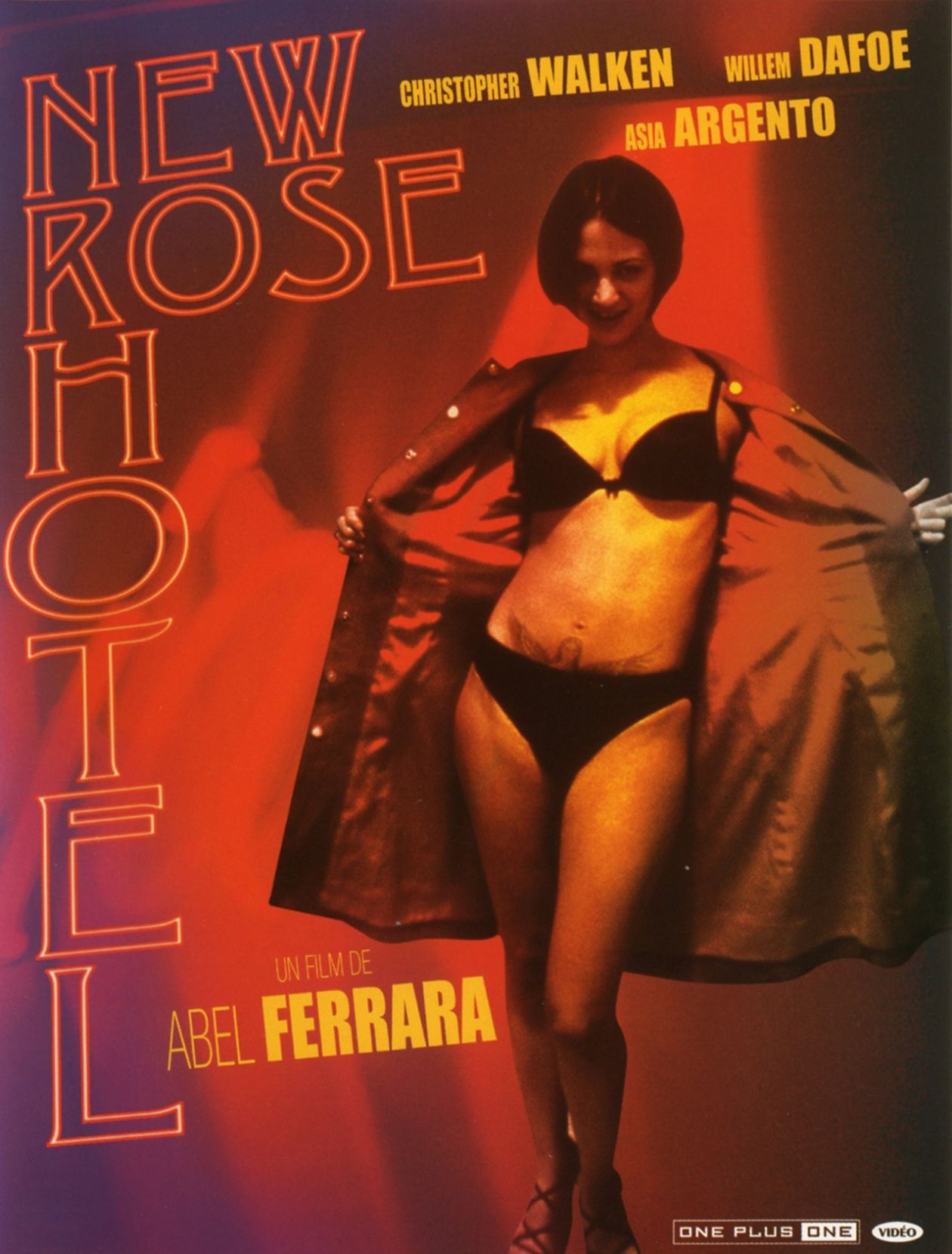 Asia Argento actress | New Rose Hotel | Abel Ferrara 1999 Movie Poster Affiche film