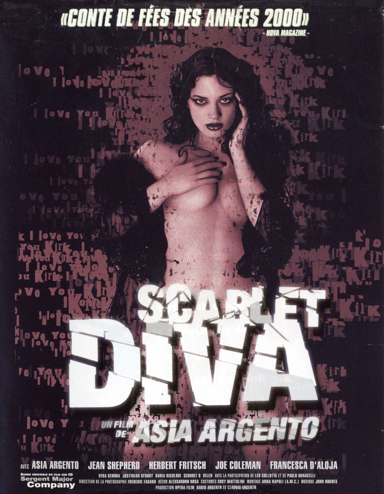 Asia Argento actress / Scarlet Diva / Asia Argento 2000 / Movie Poster Affiche film