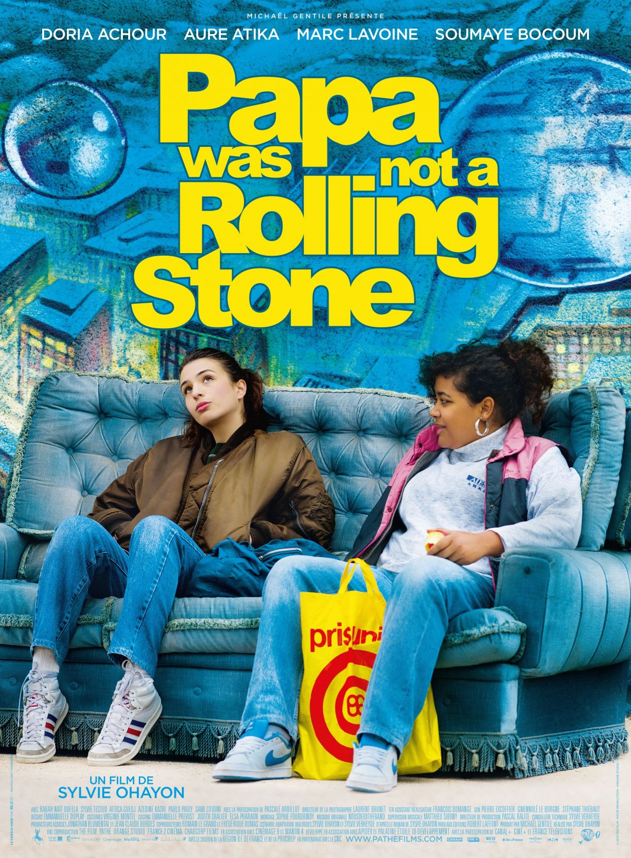 Doria Achour actress actrice comédienne | Papa Was Not a Rolling Stone / Sylvie Ohayon 2014 Movie Poster Affiche film