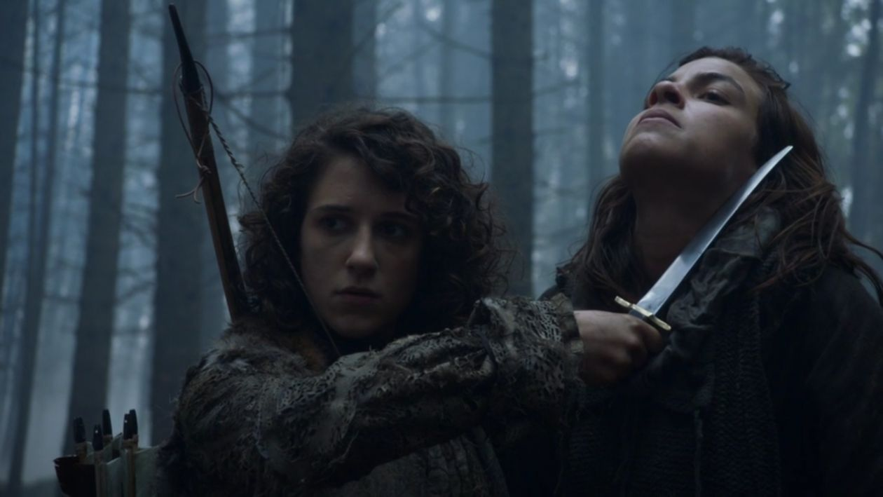 Ellie Kendrick actress / Meera Reed | Natalia Tena / wildling Osha | Game of Thrones Season 3 2013