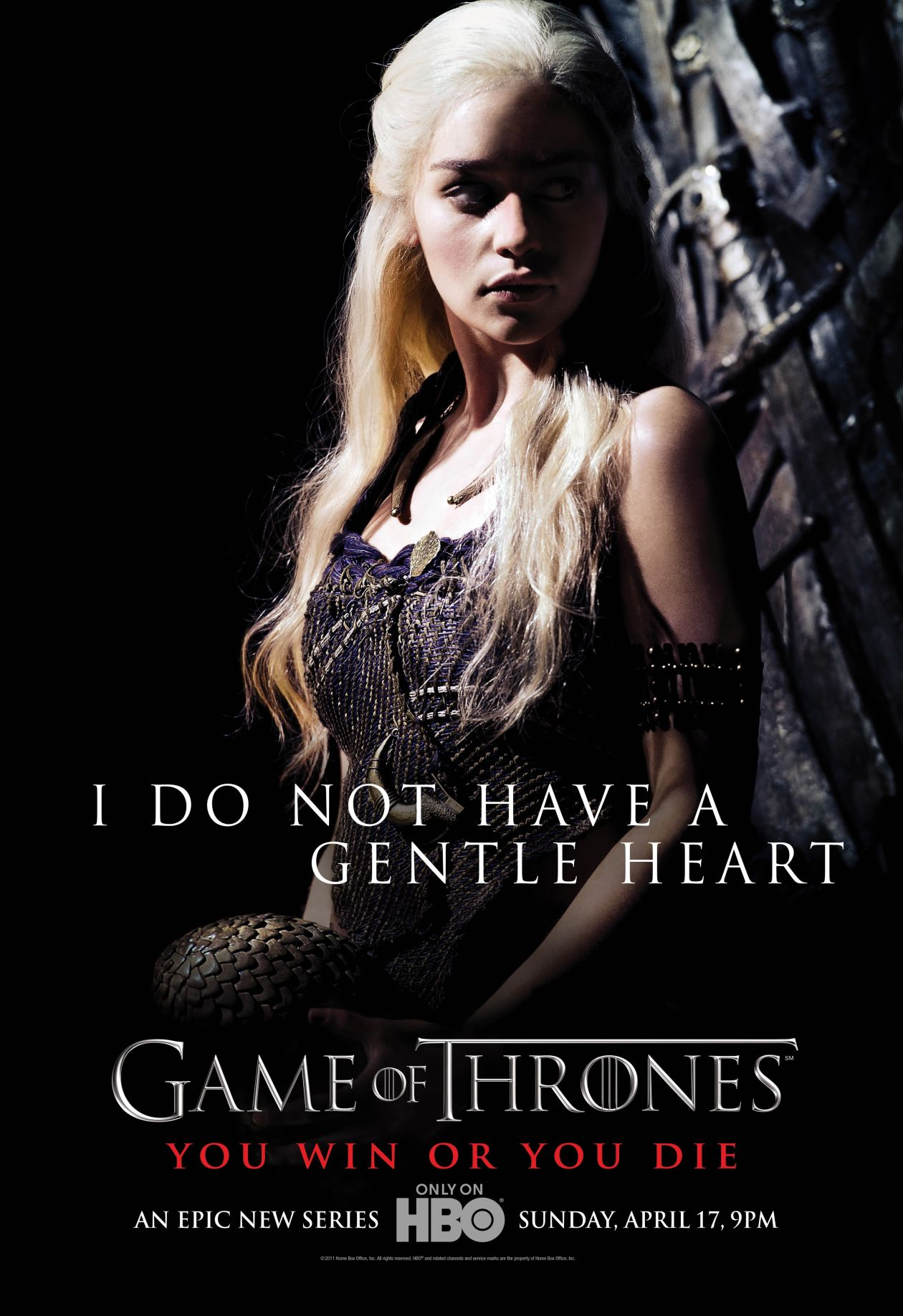 Emilia Clarke actress | Queen Daenerys Targaryen / Game of Thrones / Movie Series Season 1 Poster Affiche série Saison 1 2011