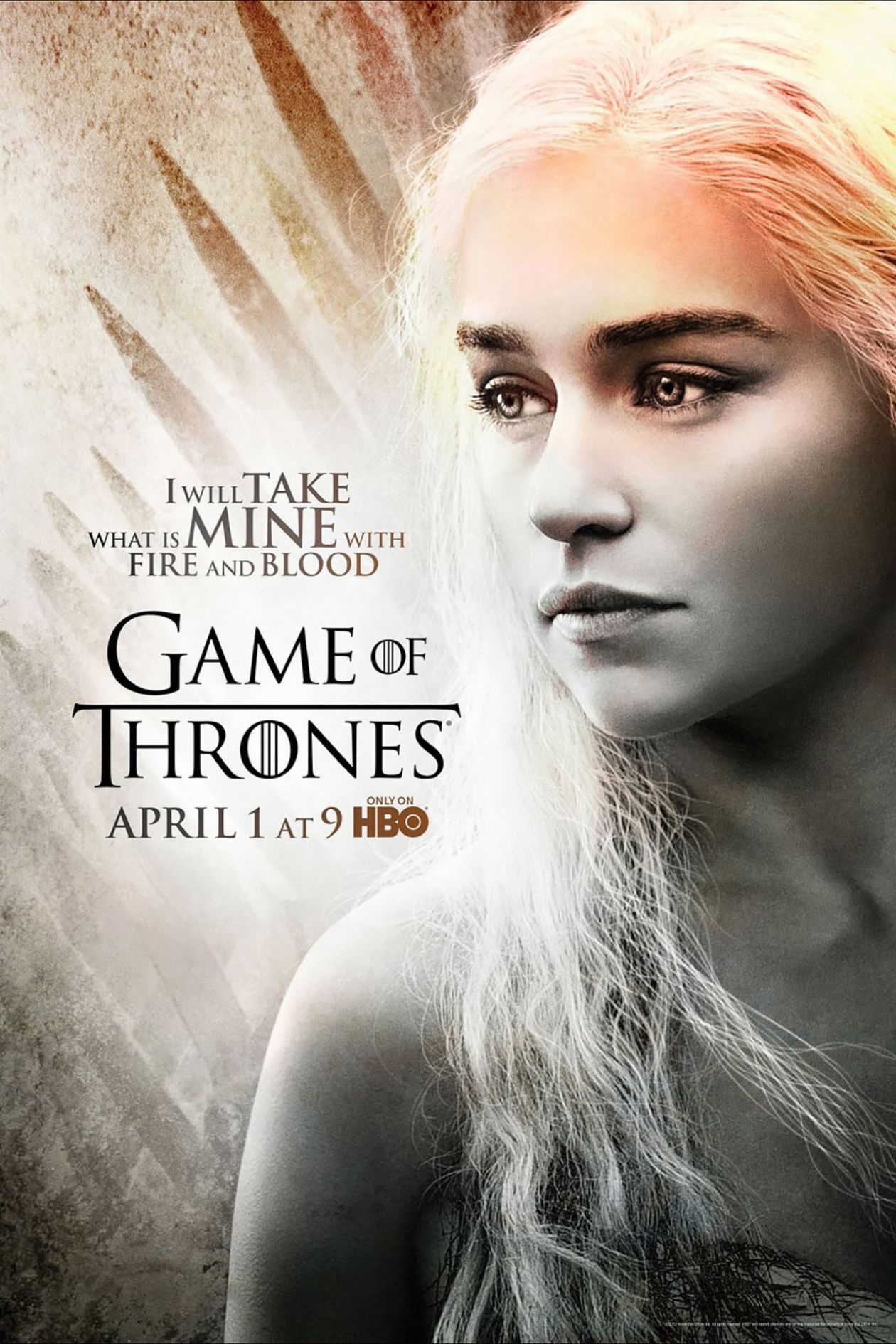 Emilia Clarke actress | Queen Daenerys Targaryen / Game of Thrones / Movie Series Season 2 Poster Affiche série Saison 2 2012
