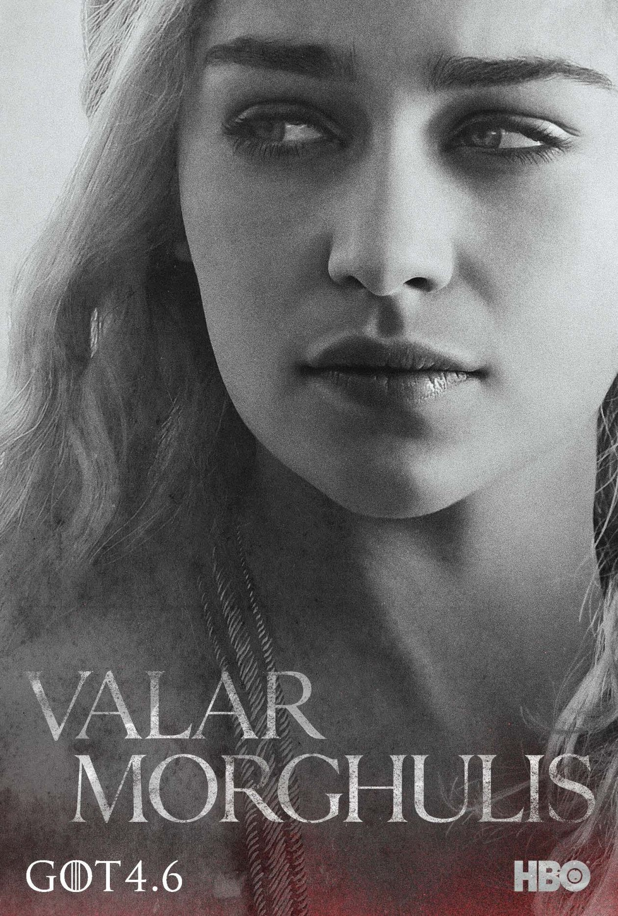Emilia Clarke actress | Queen Daenerys Targaryen / Game of Thrones / Movie Series Season 4 Poster Affiche série Saison 4 2014