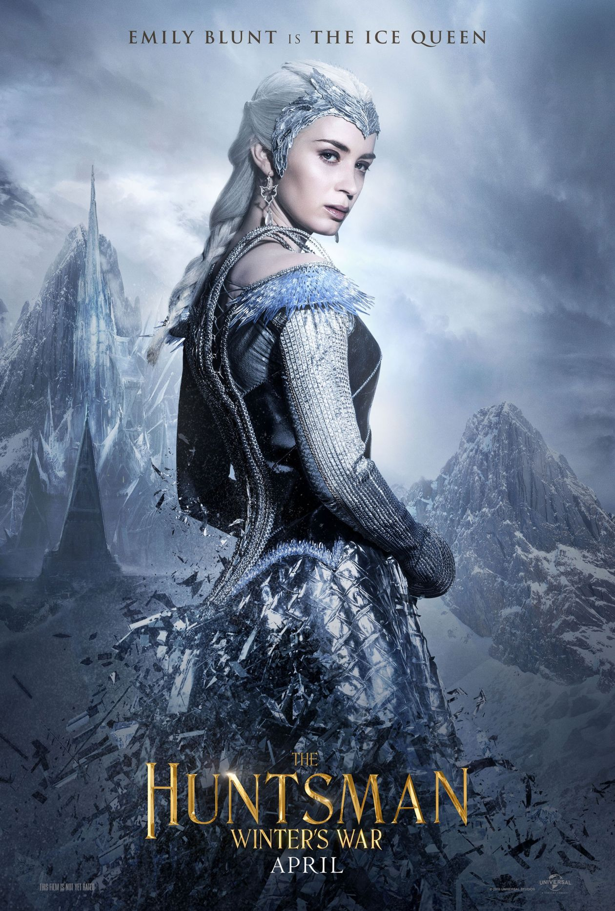 Emily Blunt actress | The Ice Queen | The Huntsman: Winter's War / Cedric Nicolas-Troyan 2016 Movie Poster Affiche film