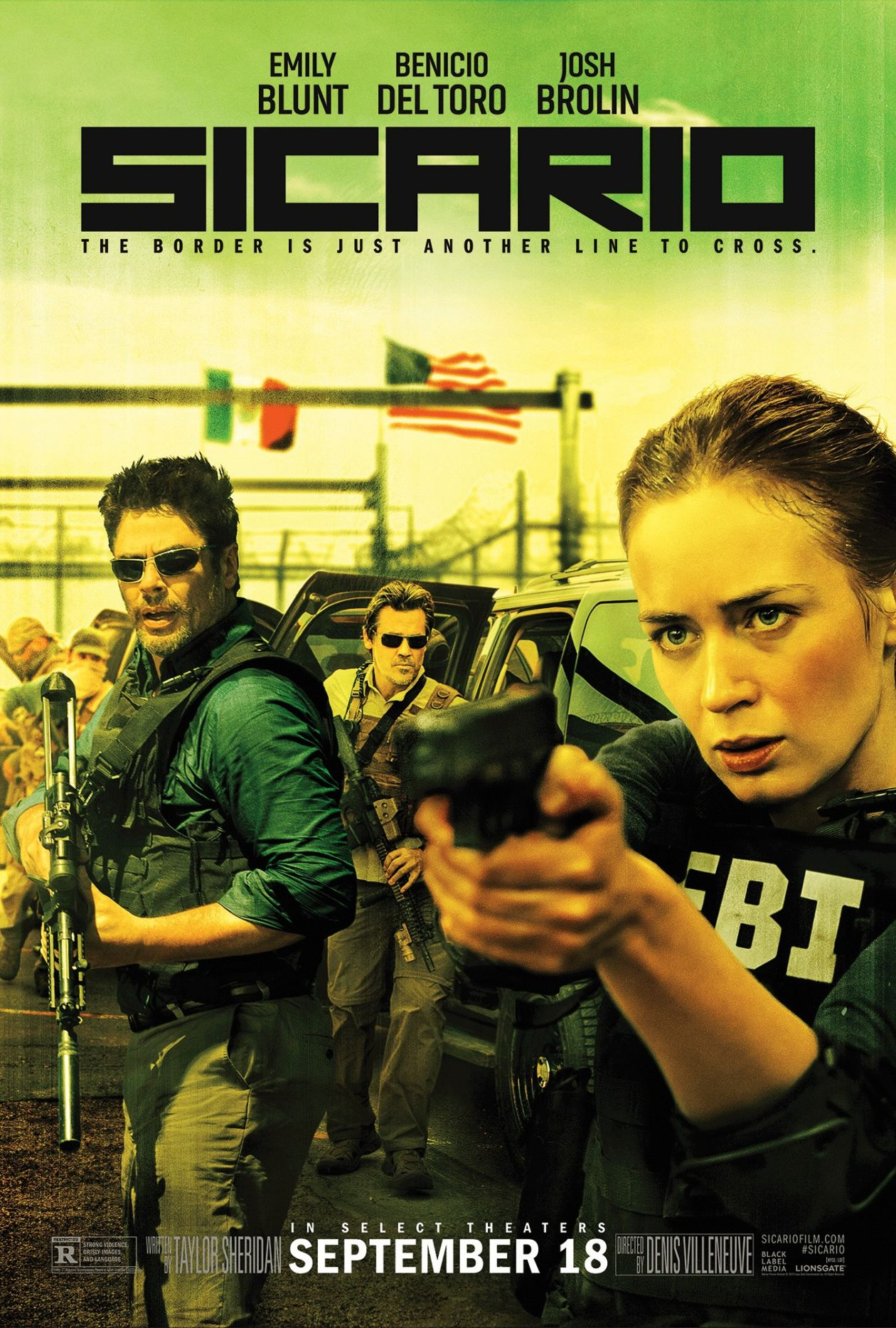 Emily Blunt actress / Sicario : Kate Macer | Denis Villeneuve 2015 Movie Poster Affiche film