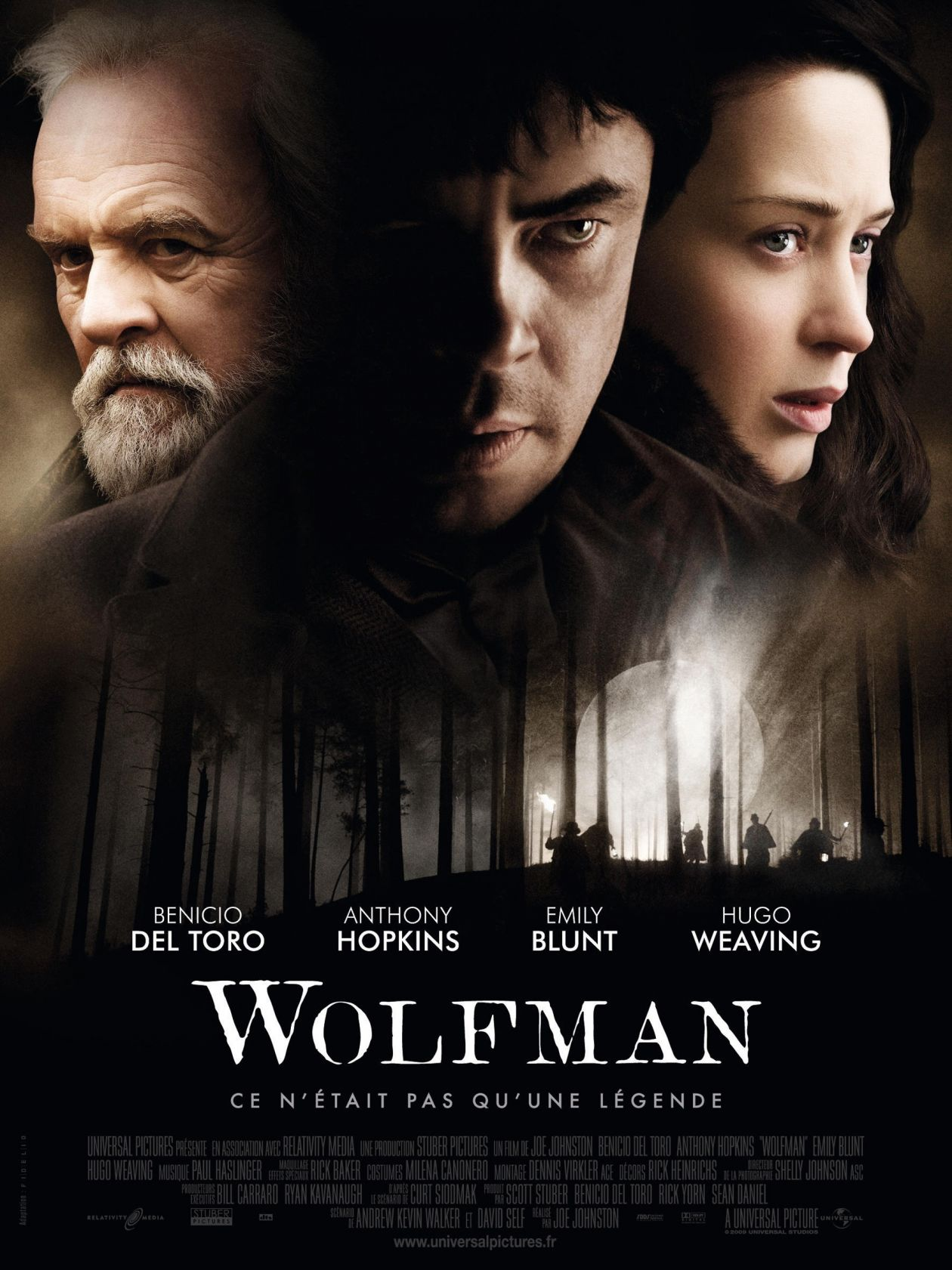 Emily Blunt actress / The Wolfman / Joe Johnston 2010 Movie Poster Affiche film