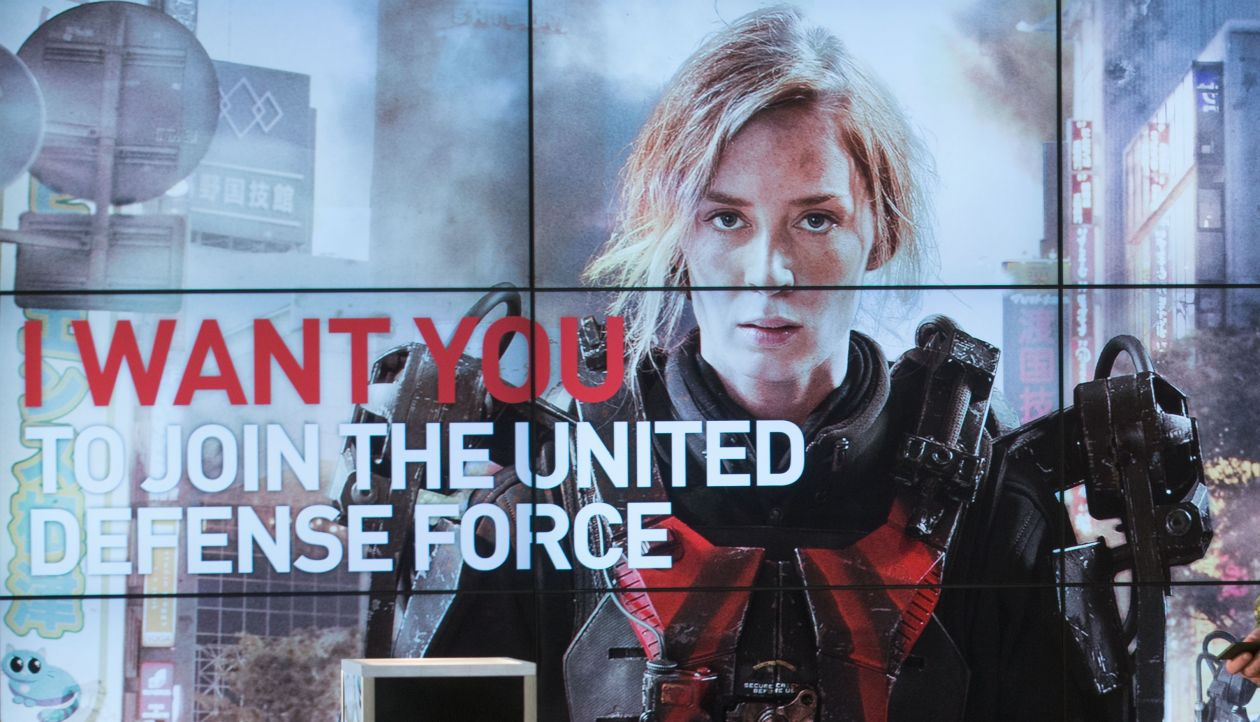 I want you to join the United Defense Force / Poster / EMILY BLUNT - Edge of Tomorrow / Rita Vrataski - Doug Liman 2014