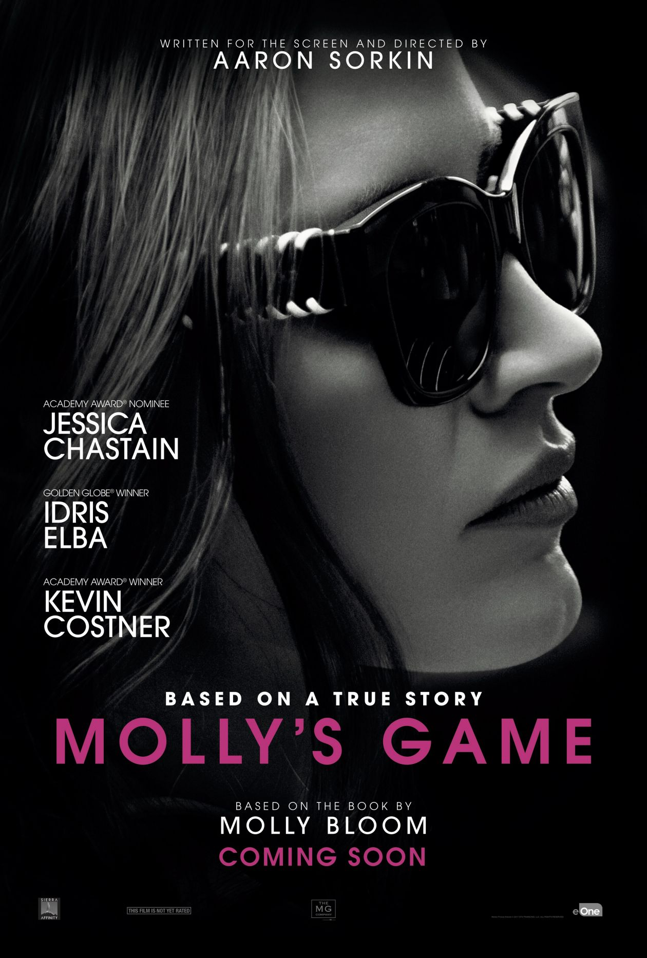 Jessica Chastain actress | Molly's Game : Molly Bloom | Aaron Sorkin 2017