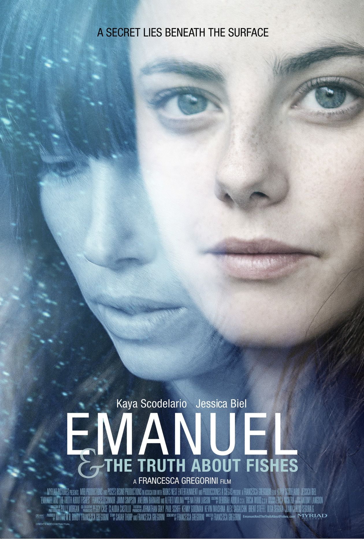 Kaya Scodelario / Jessica Biel actresses | The Truth About Emanuel / Francesca Gregorini 2013 Movie Poster Affiche film
