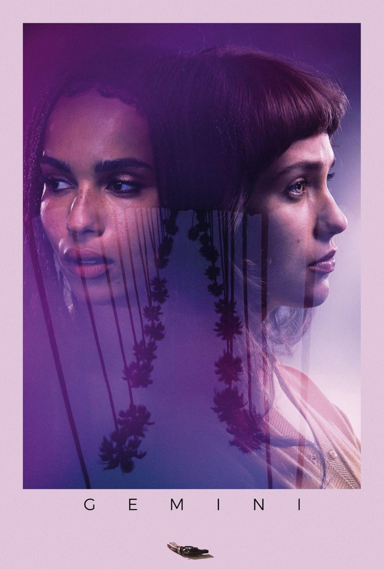 Zoë Kravitz / Lola Kirke actresses | GEMINI | Aaron Katz 2017 Movie Poster Affiche film