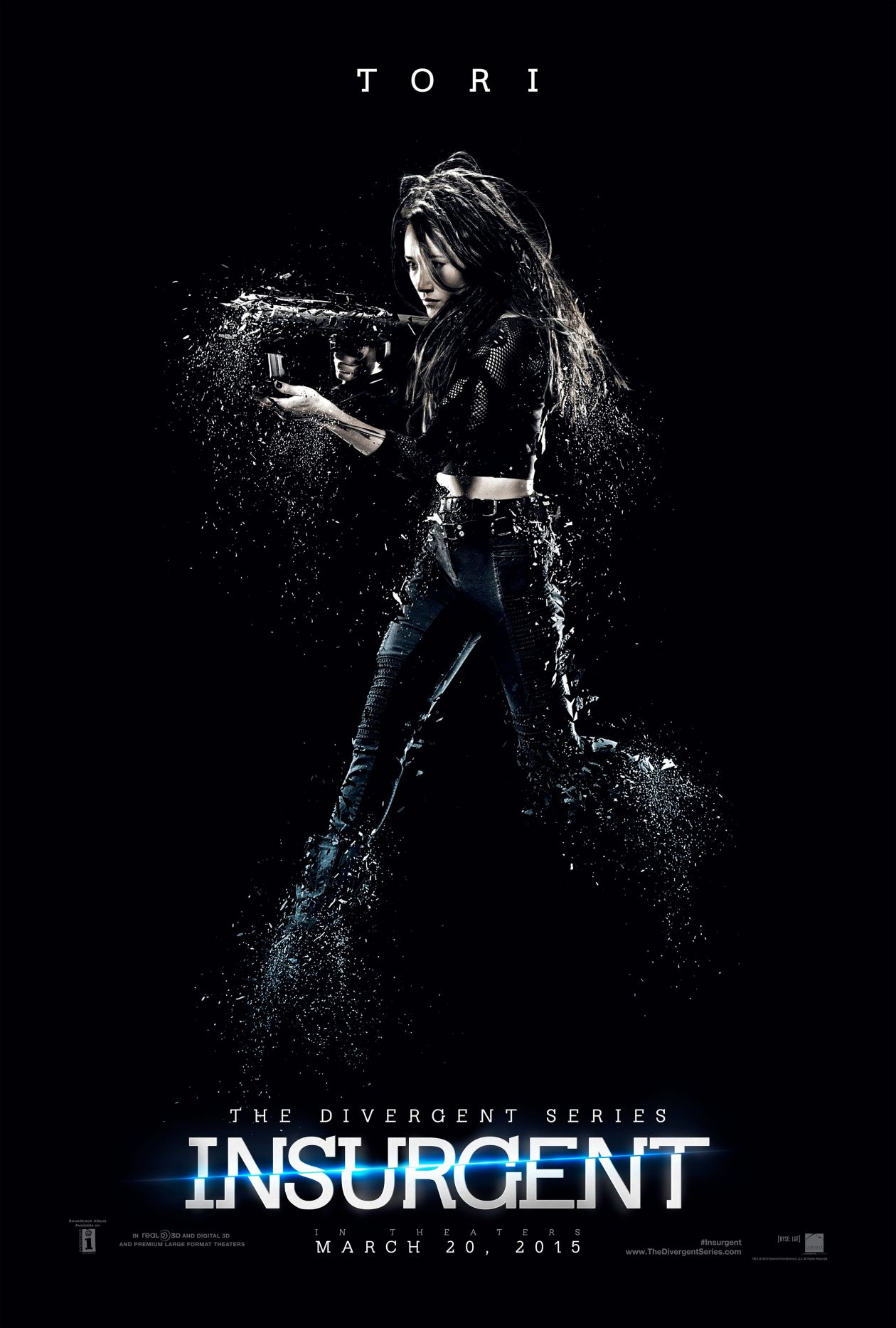 Maggie Q actress | Tori Wu / The Divergent Series: Insurgent / 2015 Robert Schwentke Movie Poster Affiche film