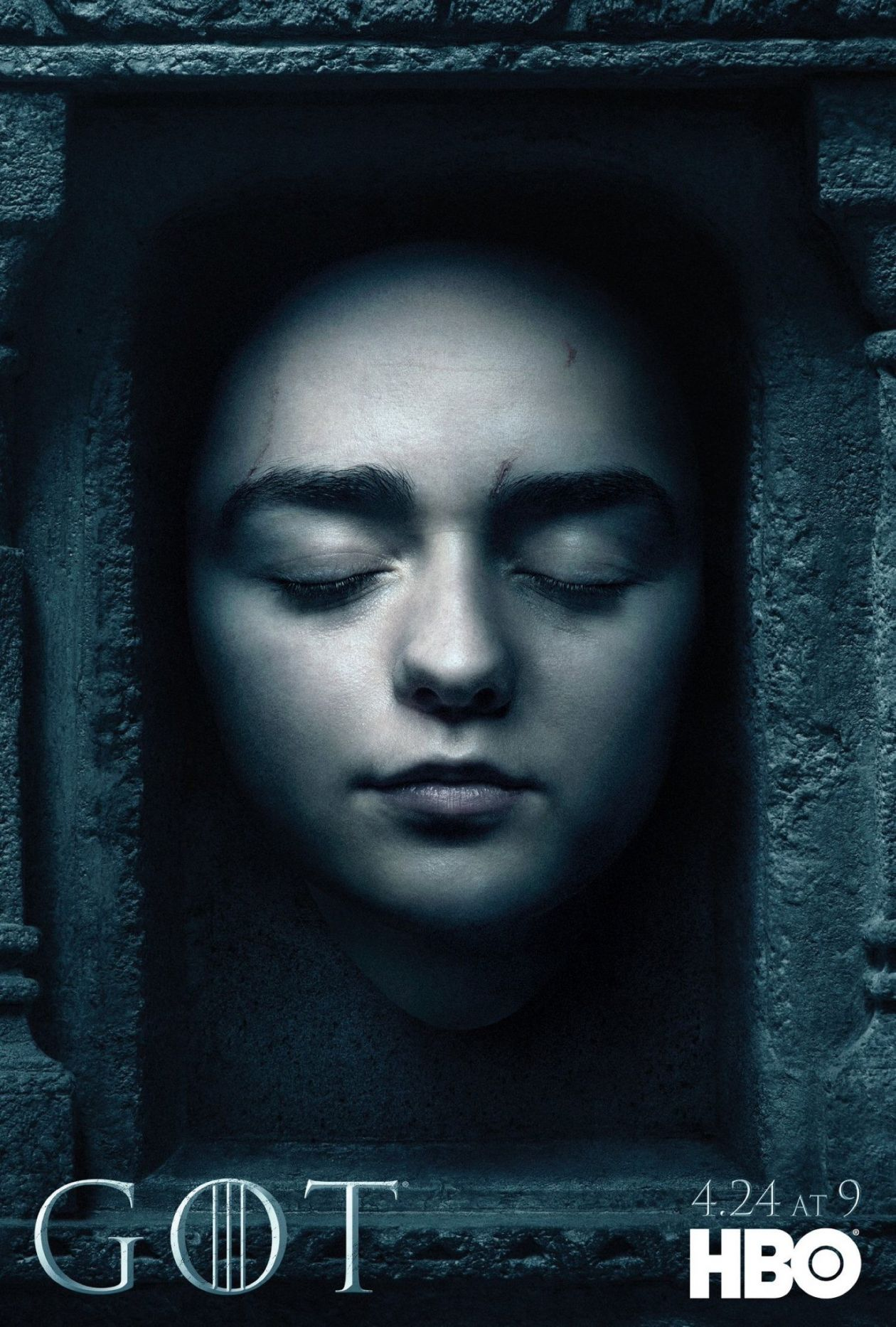 Maisie Williams actress : Arya Stark  Game of Thrones : Series Poster Season 6 2016
