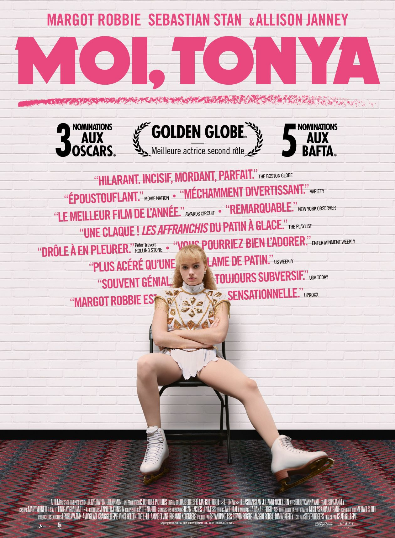 Margot Robbie actress / Moi, Tonya /  I, Tonya / Tonya Harding / Craig Gillespie 2017 / French Movie Poster / France / Affiche française du film