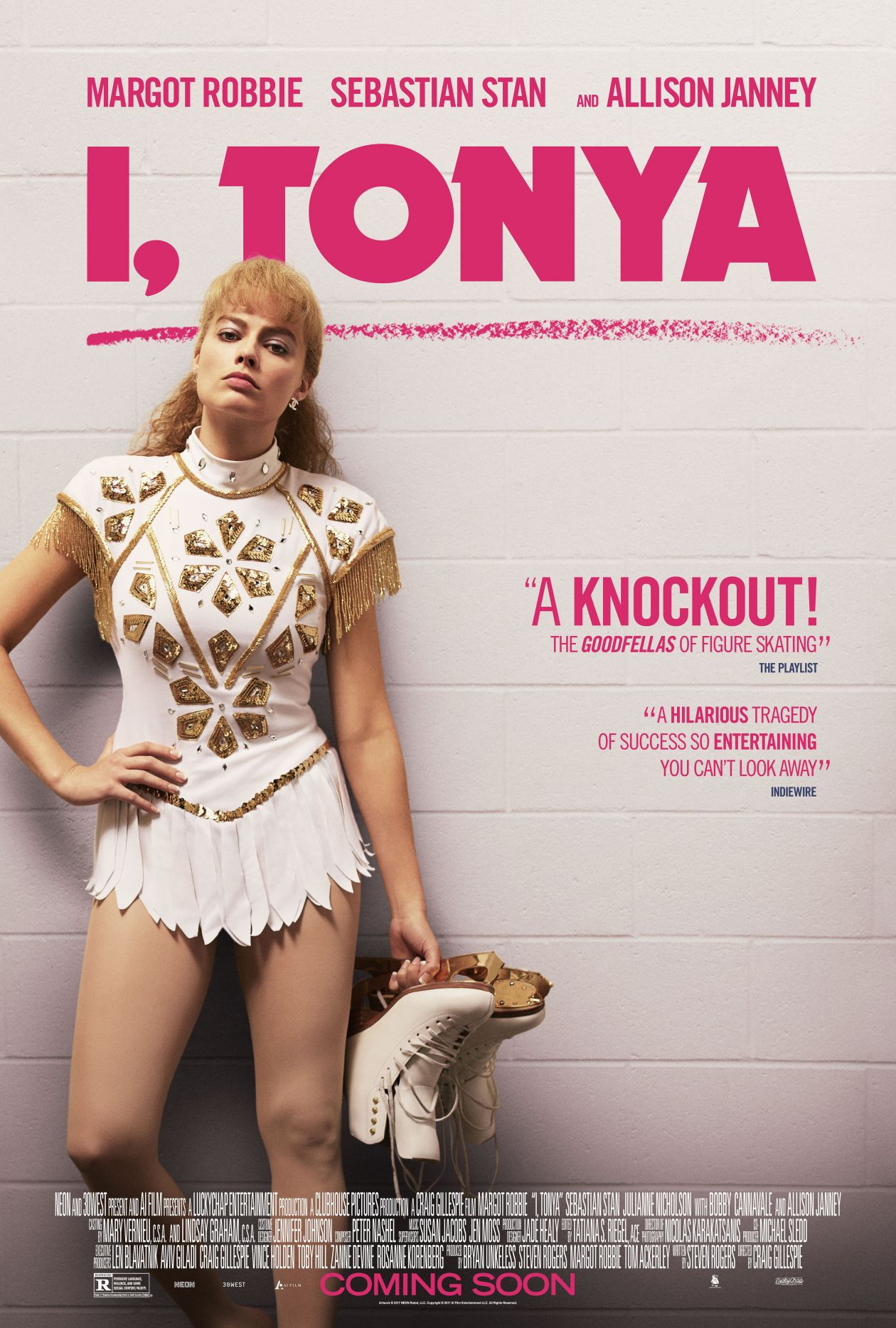 Margot Robbie actress / I, Tonya / Tonya Harding / Craig Gillespie 2017 / Movie Poster / Affiche film