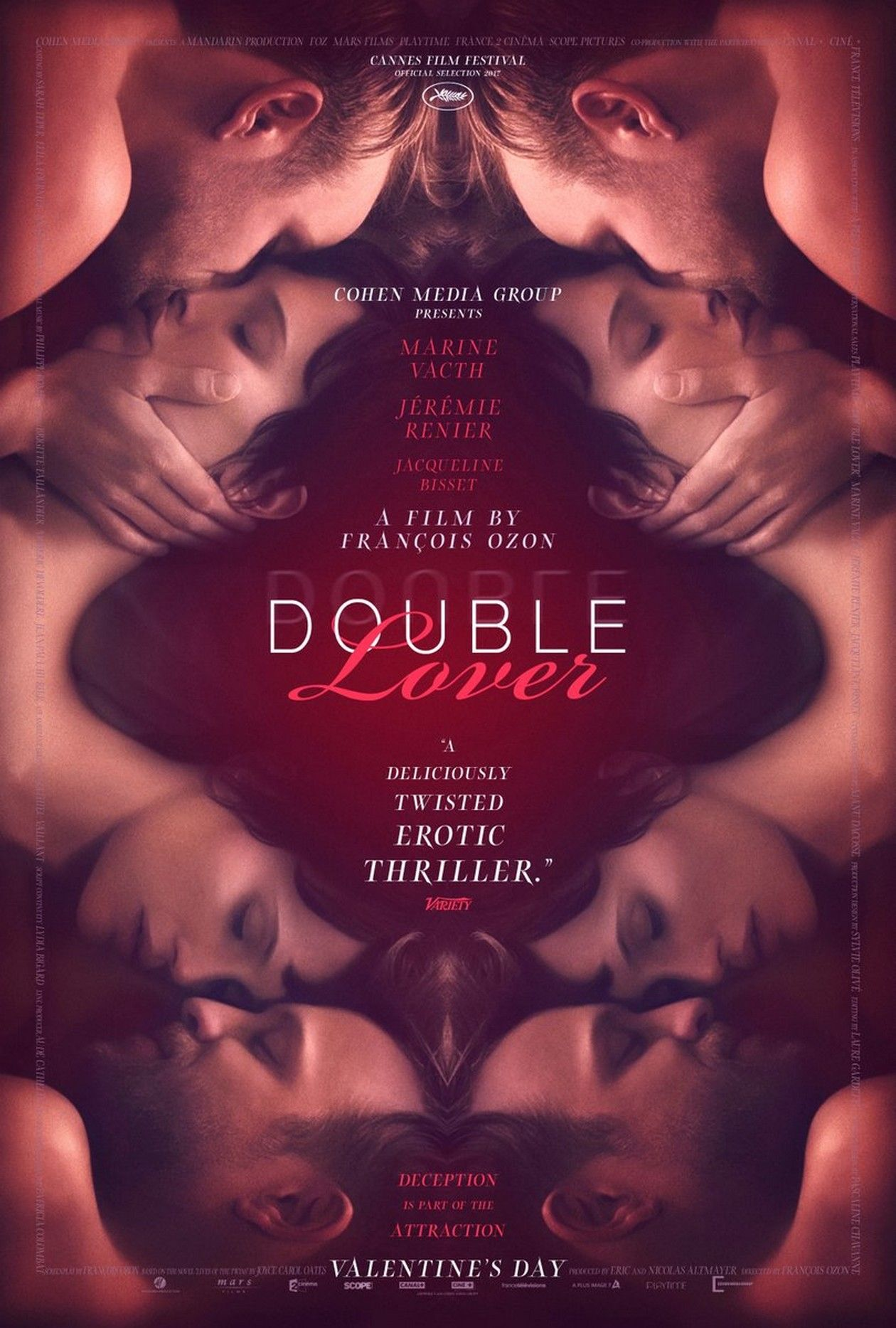 Marine Vacth actress | Double Lover / François Ozon / US MOVIE POSTER / Affiche américaine du film / VALENTINE'S DAY