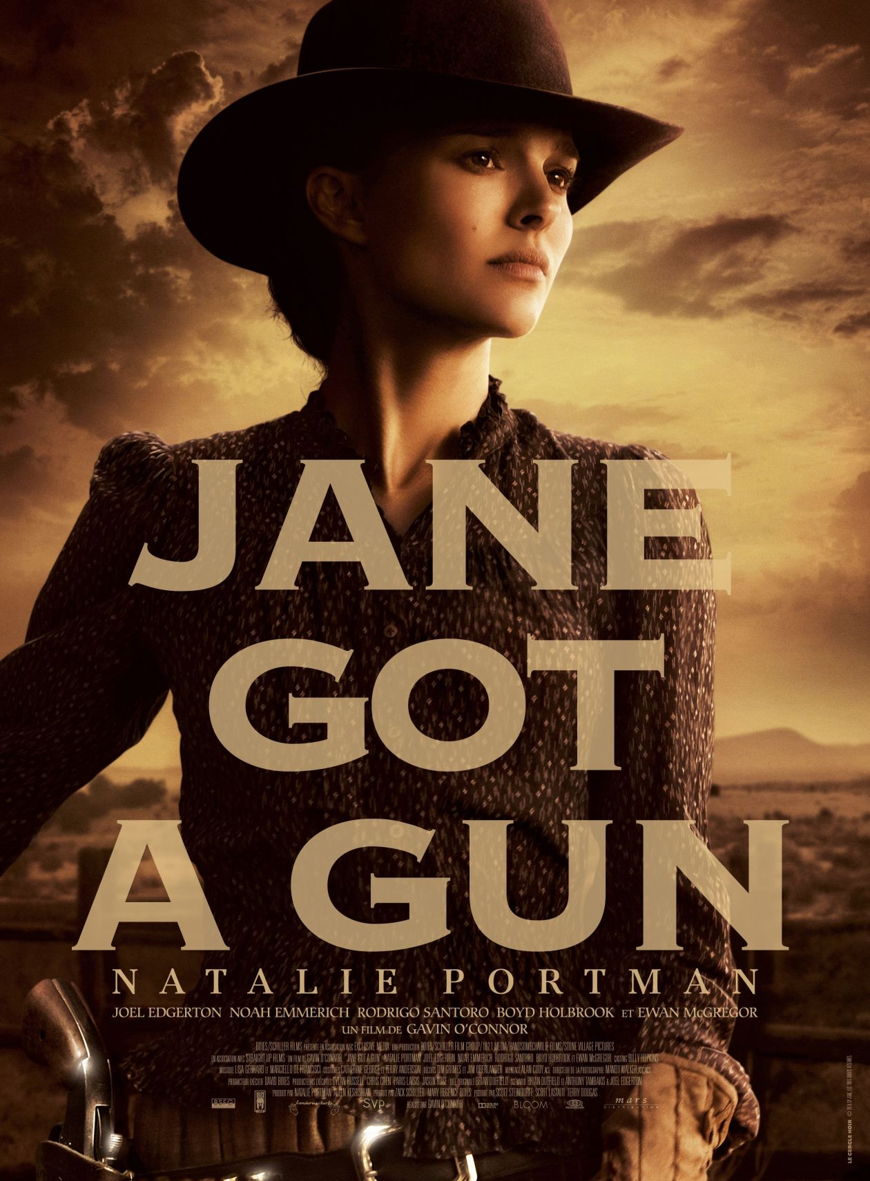 Natalie Portman actress | Jane got a gun | Gavin O'Connor 2015 Movie Poster Affiche film