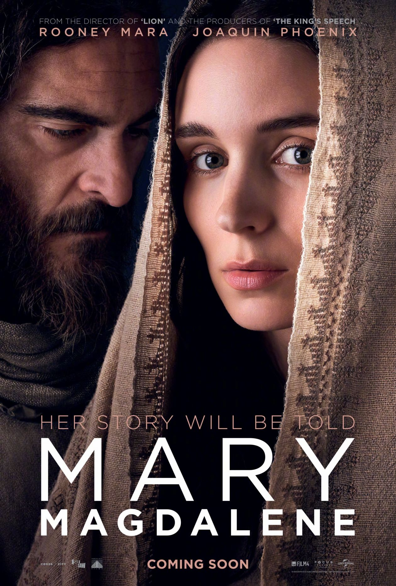 Rooney Mara actress / Joaquin Phoenix | Mary Magdalene / Garth Davis 2018 Movie Poster Affiche Film