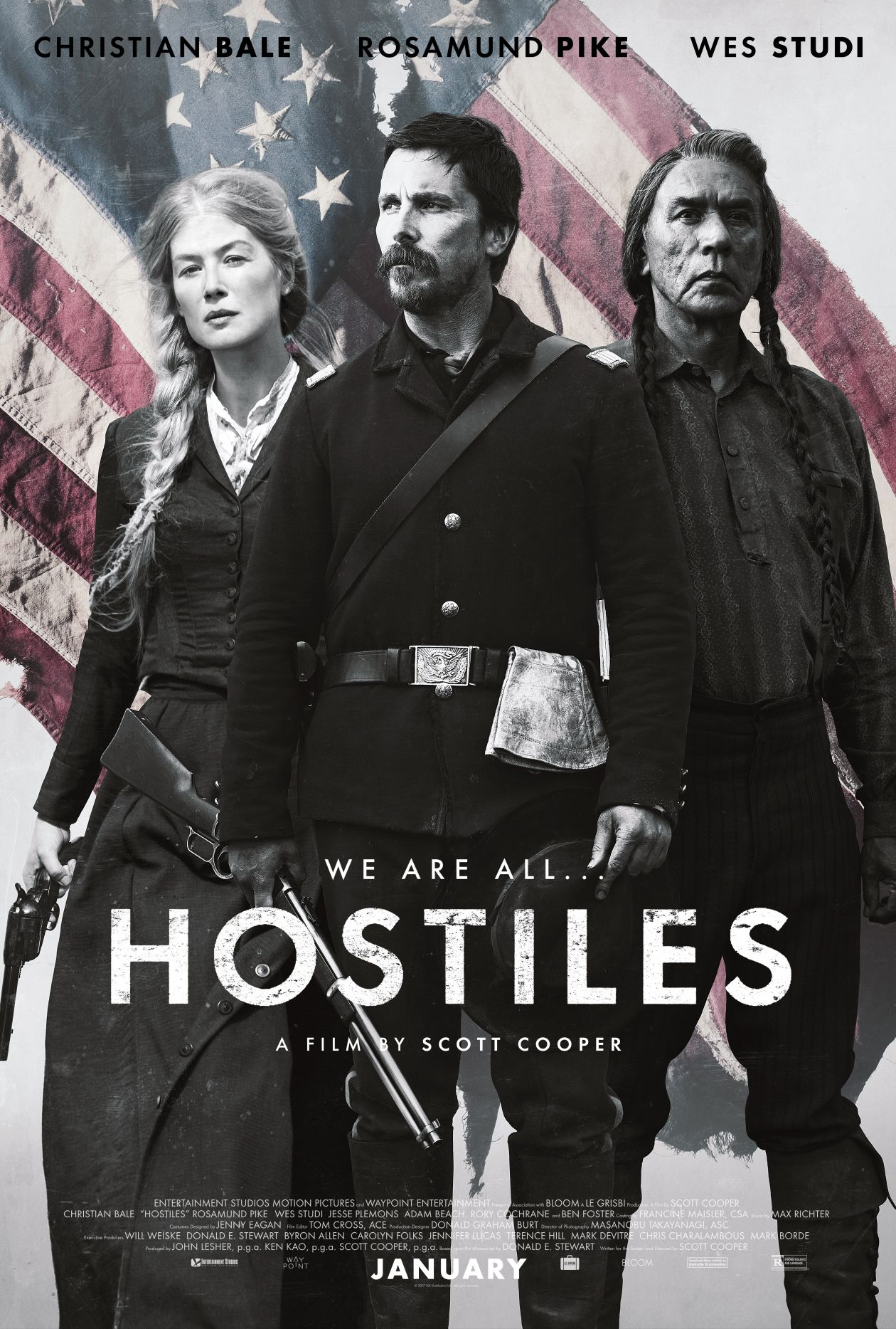 Rosamund Pike actress / Rosalie Quaid / HOSTILES / Scott Cooper 2017 Movie Poster Affiche film