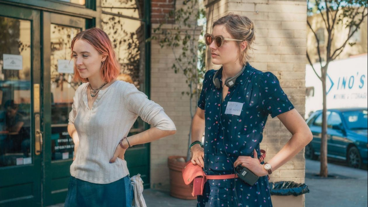 Actress Saoirse Ronan // Writer / Director Greta Gerwig / set film Lady Bird  / Photo Merie Wallace / A24