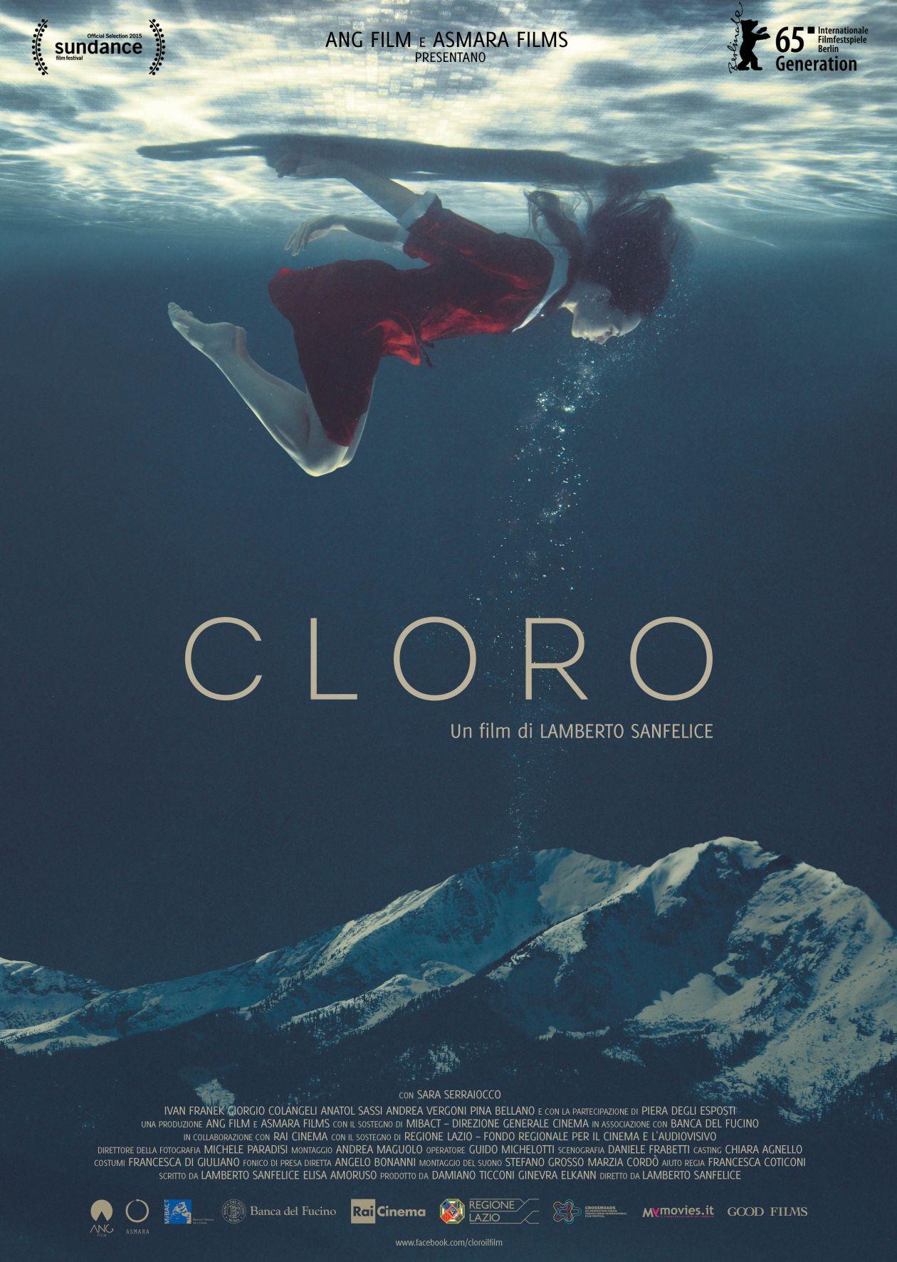 Sara Serraiocco actress / CLORO / Lamberto Sanfelice 2015 Movie Poster Affiche film