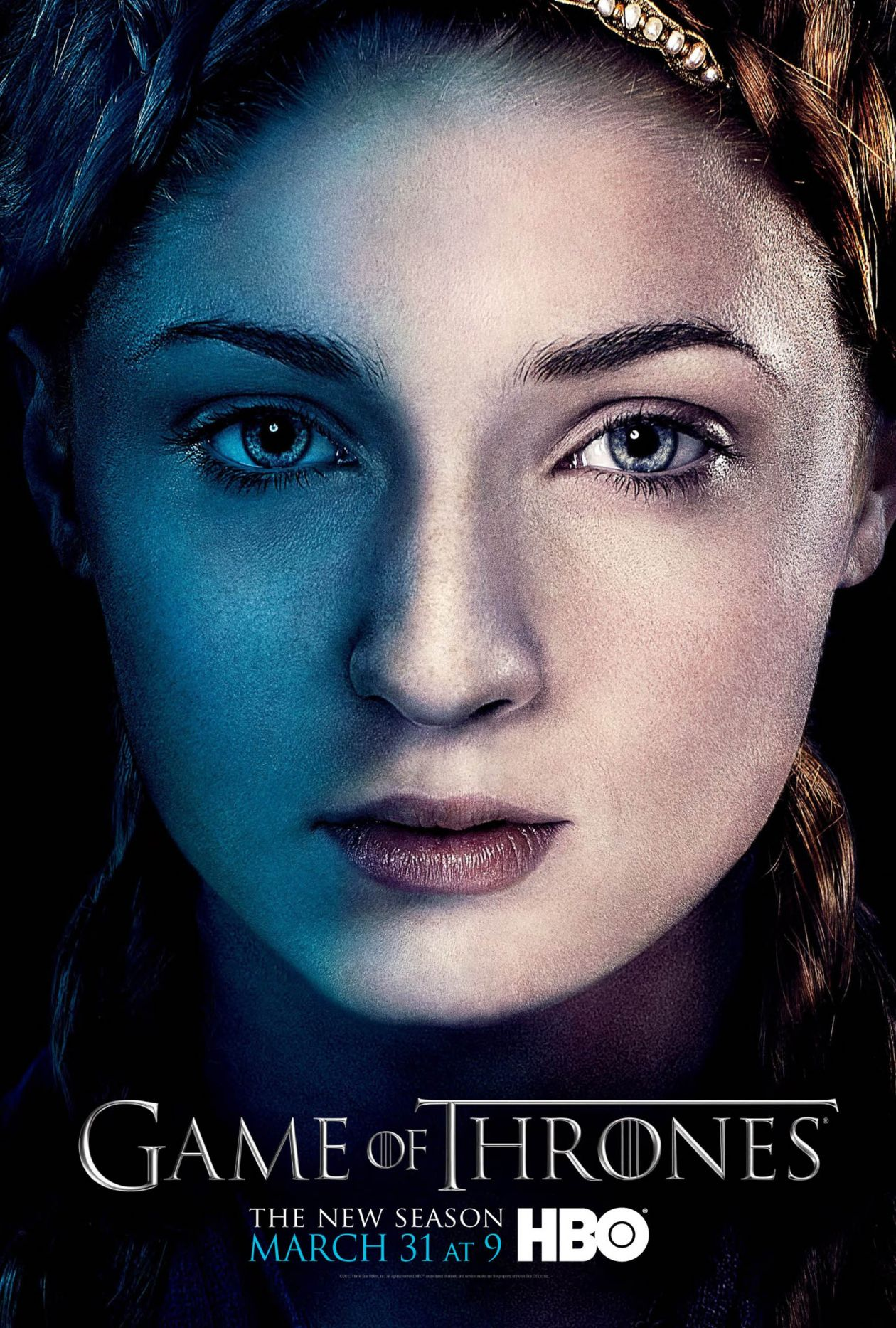 Sophie Turner actress | Game of Thrones / Sansa Stark SEASON 3 2013 SERIES POSTER AFFICHE