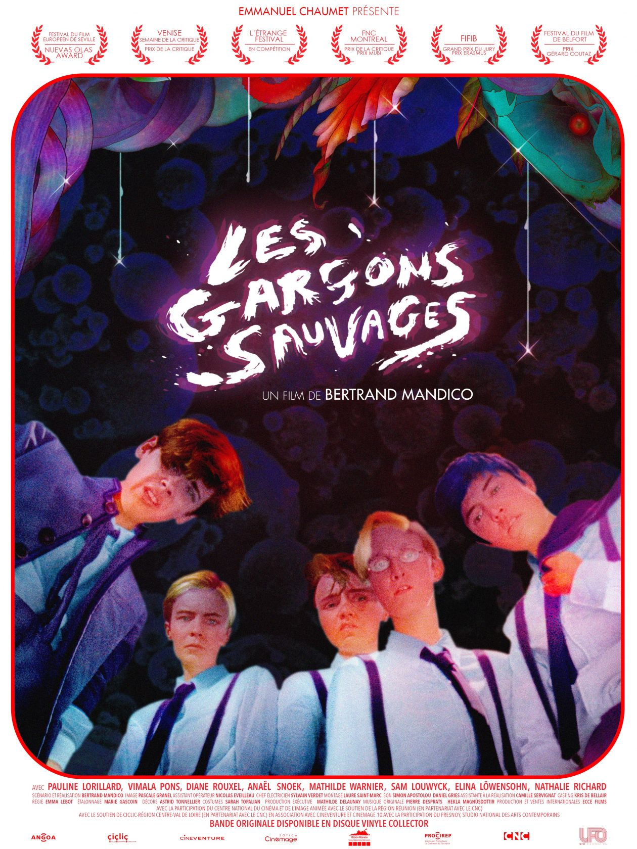Les Garçons sauvages / The Wild Boys | Bertrand Mandico /  Pauline Lorillard, Vimala Pons, Diane Rouxel, Anaël Snoek, Mathilde Warnier actresses / 2018 Movie Poster / Affiche film