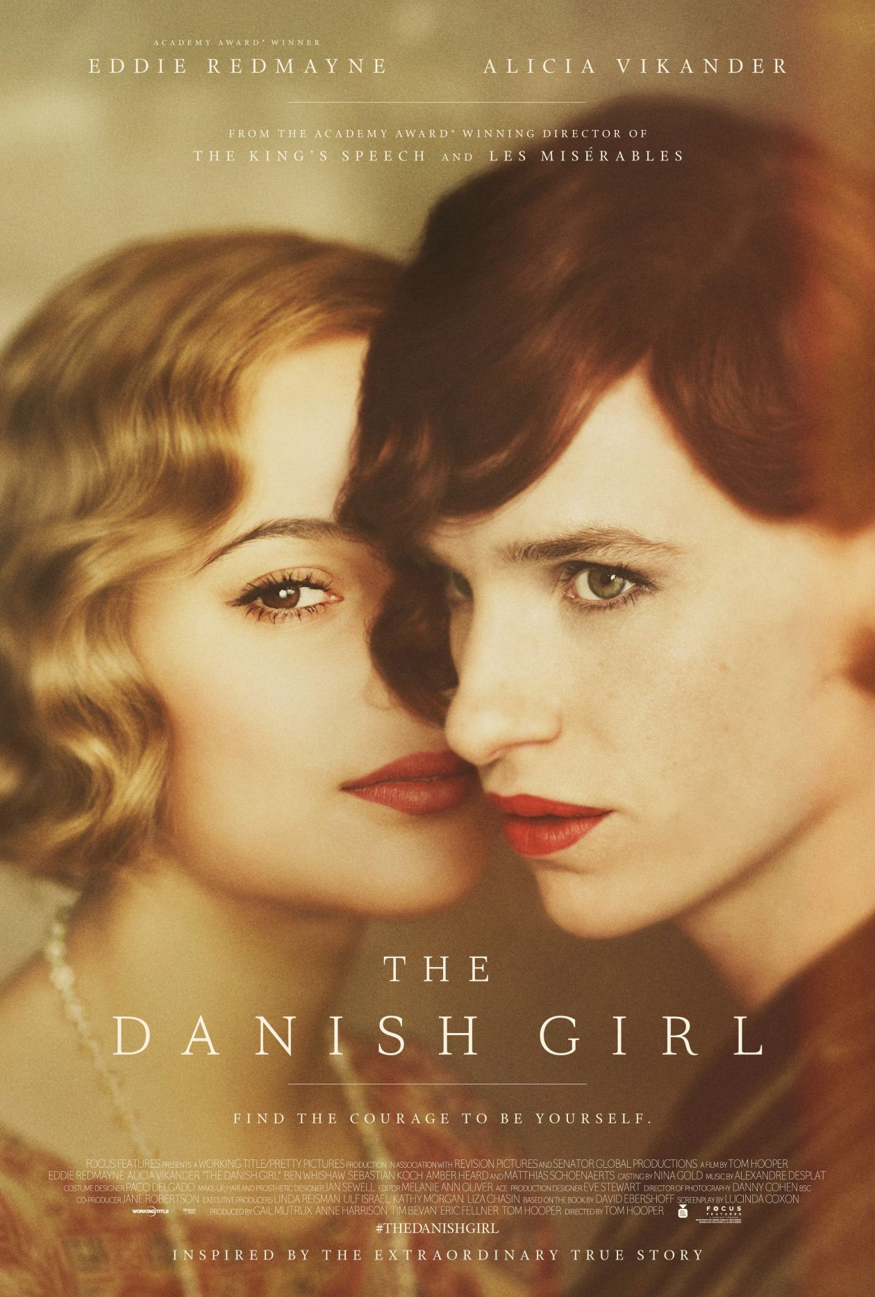 Alicia Vikander actress | The Danish Girl / Tom Hooper 2015 movie poster / Affiche film