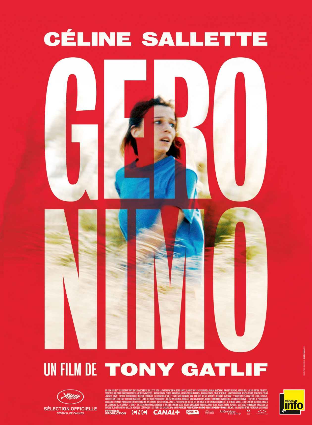Céline Sallette French actress / GERONIMO / Tony Gatlif 2014 / Movie Poster / Affiche film