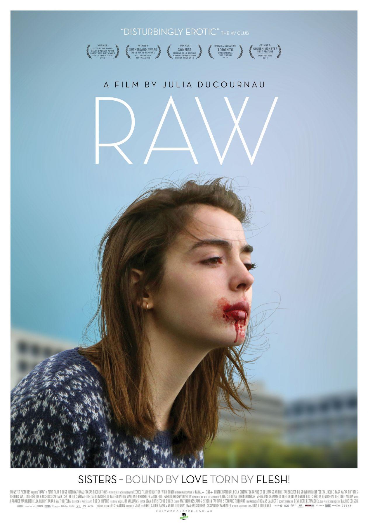 Garance Marillier French Actress actrice comédienne | Grave / Raw / Julia Ducournau 2016 / Movie Poster / Affiche du film