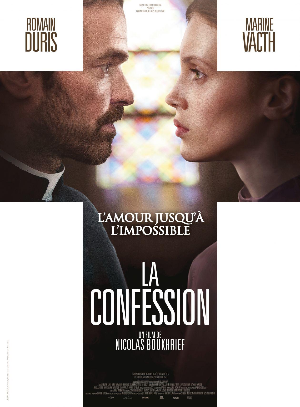 MARINE VACTH actress actrice comédienne 2017 LA CONFESSION (Nicolas Boukhrief, Romain Duris) / Movie Poster / Affiche film