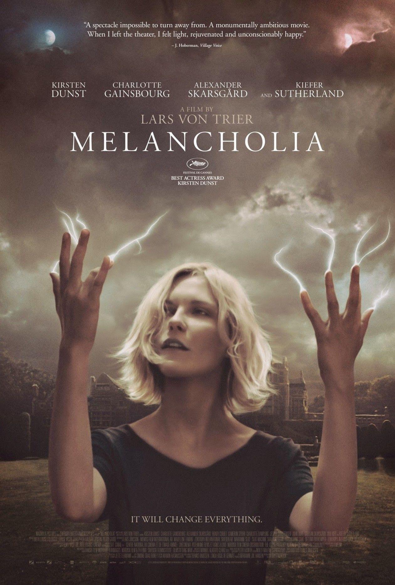 Kirsten Dunst | Melancholia / Lars Von Trier 2011 Movie Poster - Affiche du film