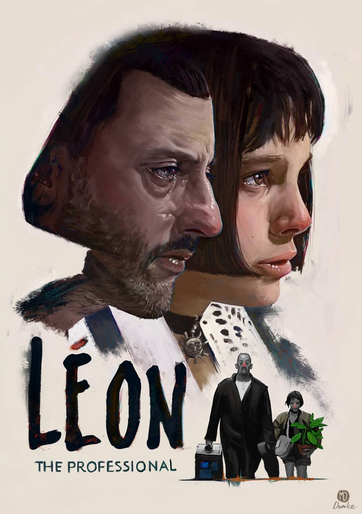 NATALIE PORTMAN / Léon: The Professional / LUC BESSON 1994 MOVIE POSTER / AFFICHE FILM