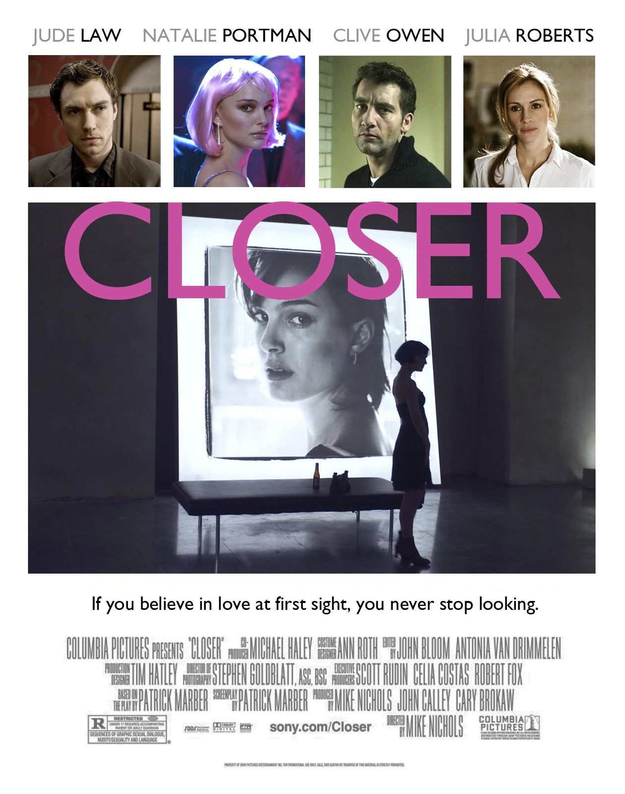 Natalie Portman | Closer / Mike Nichols 2004 Movie Poster Affiche film