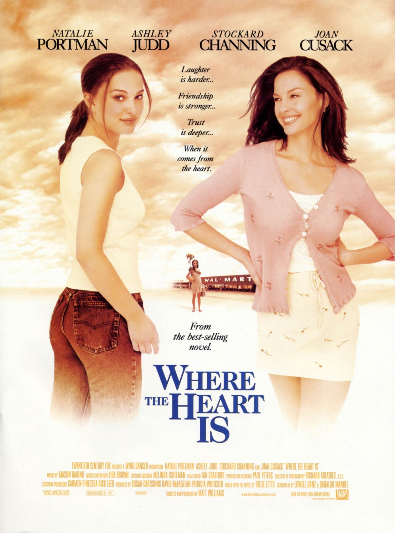 Natalie Portman actress / Where the Heart Is / Matt Williams 2000 Movie Poster Affiche film