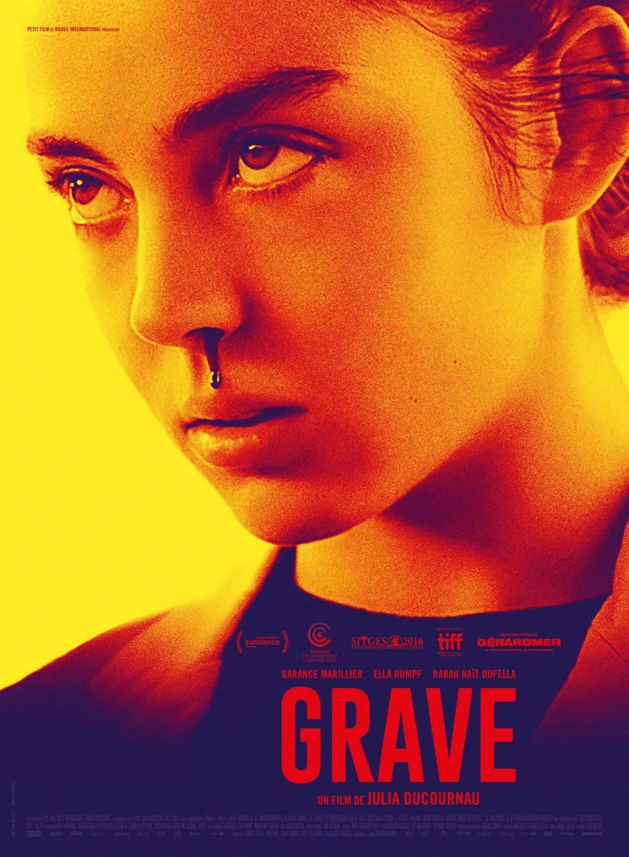 Garance Marillier French Actress | Grave / Julia Ducournau 2016 / Movie Poster / Affiche du film