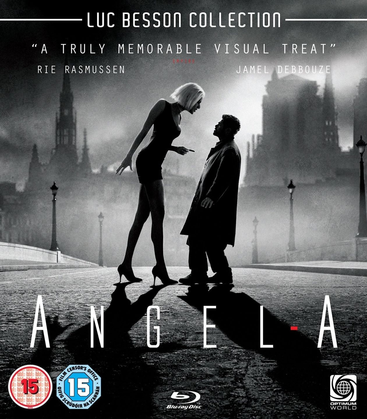 Rie Rasmussen actress / Angel-A / Luc Besson 2005 Movie Poster Blu-Ray Cover