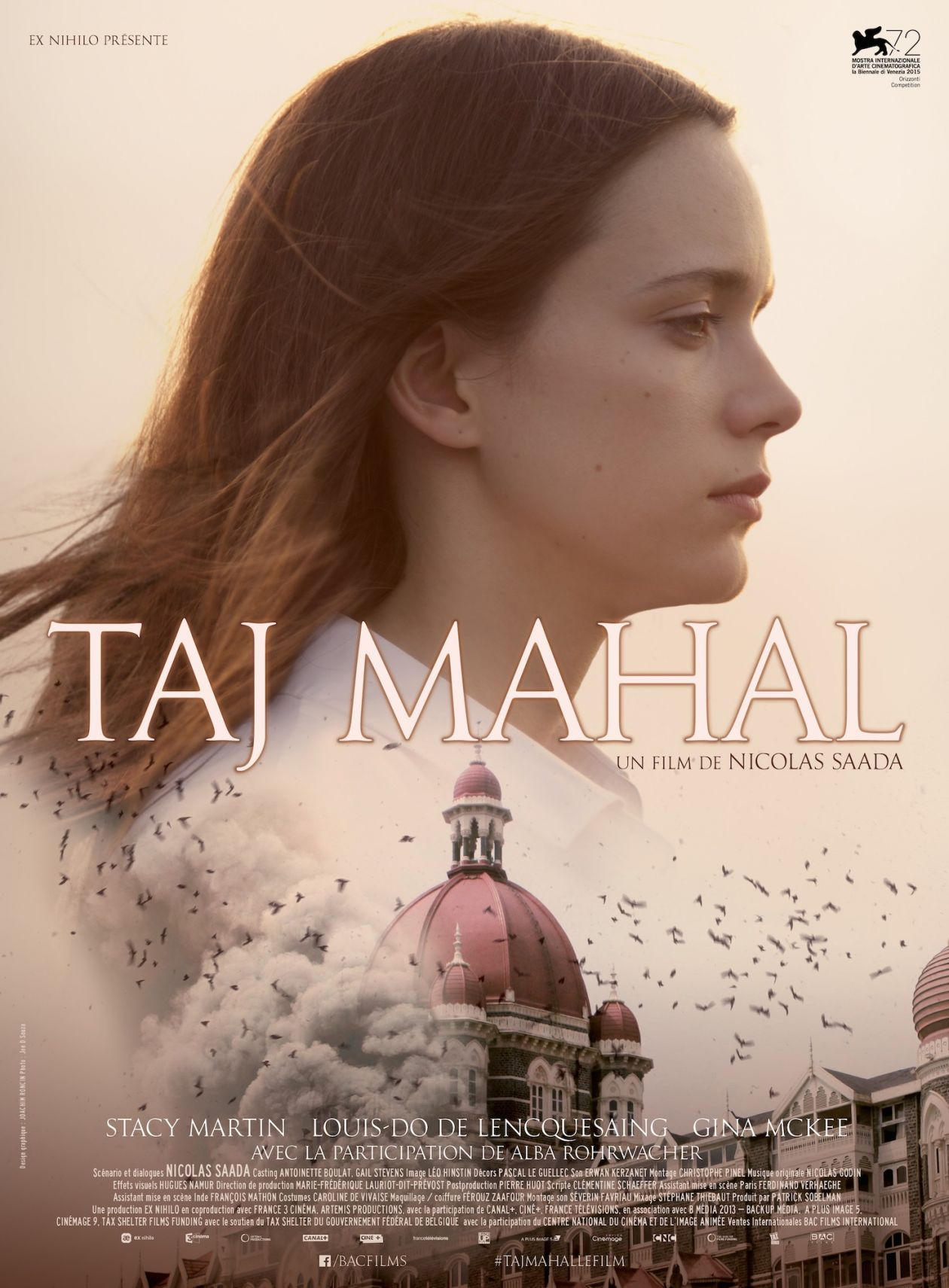 Stacy Martin | Taj Mahal | Nicolas Saada 2015 / MOVIE POSTER / AFFICHE DU FILM