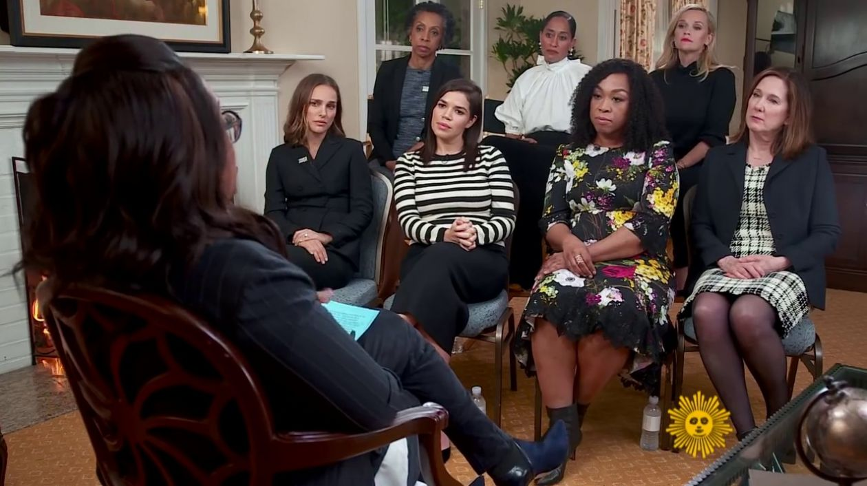 Time's Up and the climate of change | Where Is Forgiveness? | Actresses America Ferrera, Natalie Portman, Tracee Ellis Ross, Reese Witherspoon | Lucasfilm president Kathleen Kennedy; producer Shonda Rhimes; and attorney Nina Shaw | Oprah Winfrey